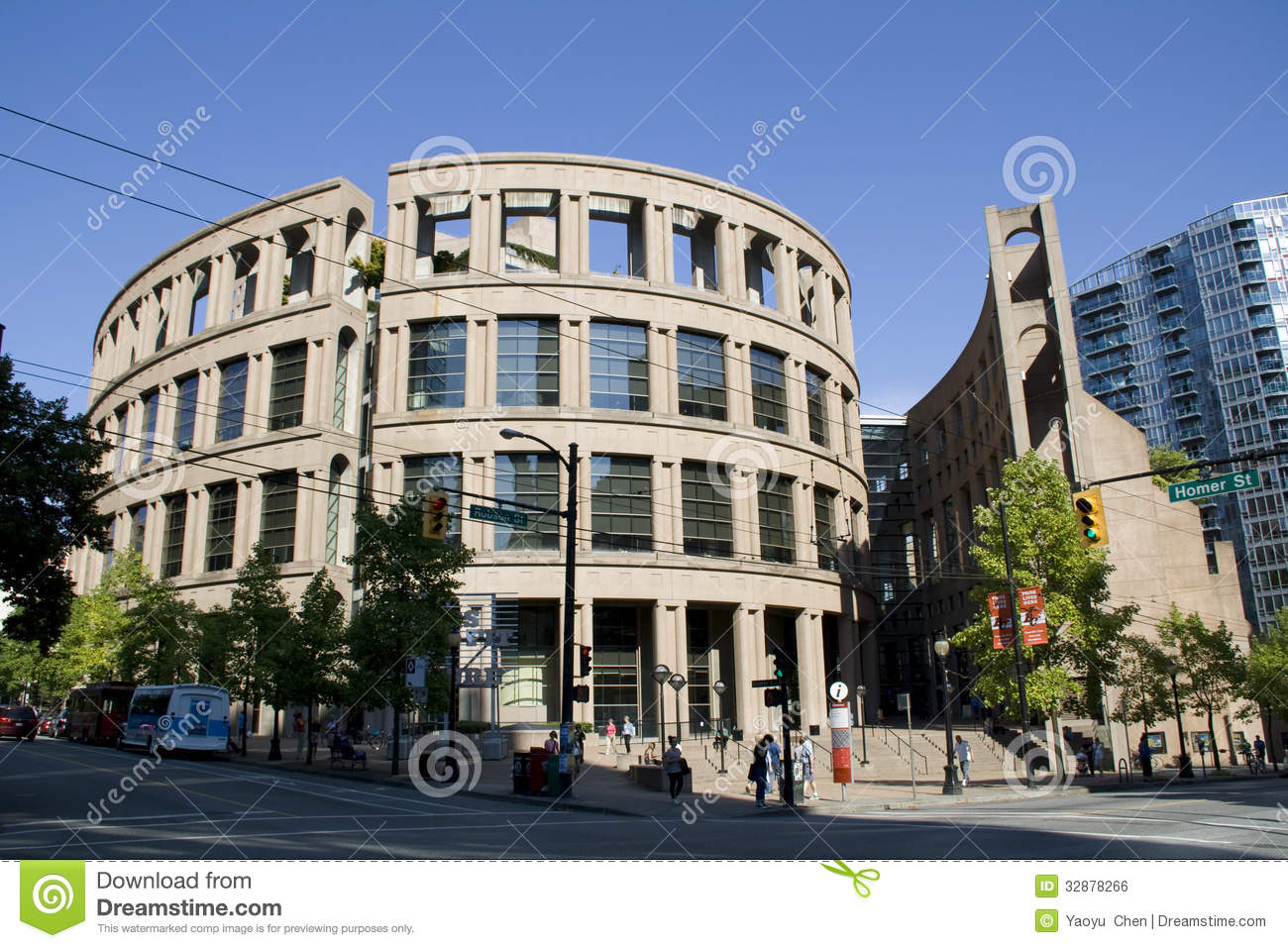 Roman and modern architecture at Vancouver Public Library BC Editorial ...