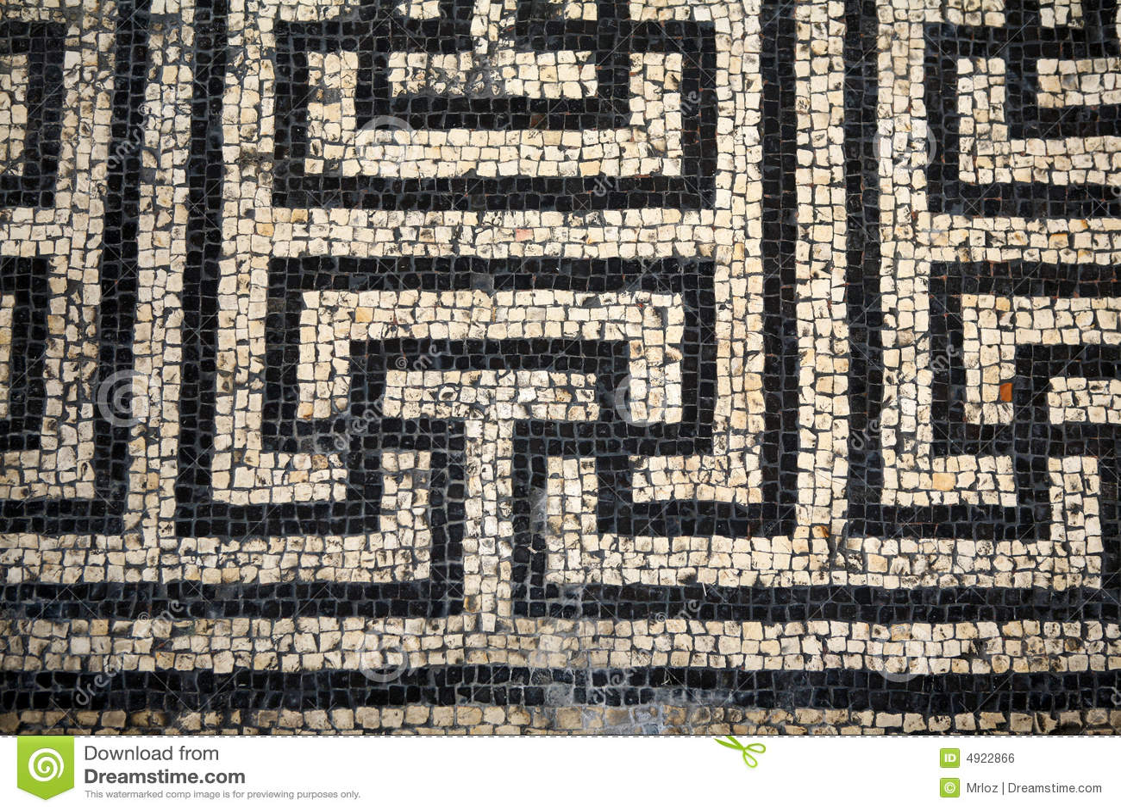 Roman Mosaic Abstact Pattern