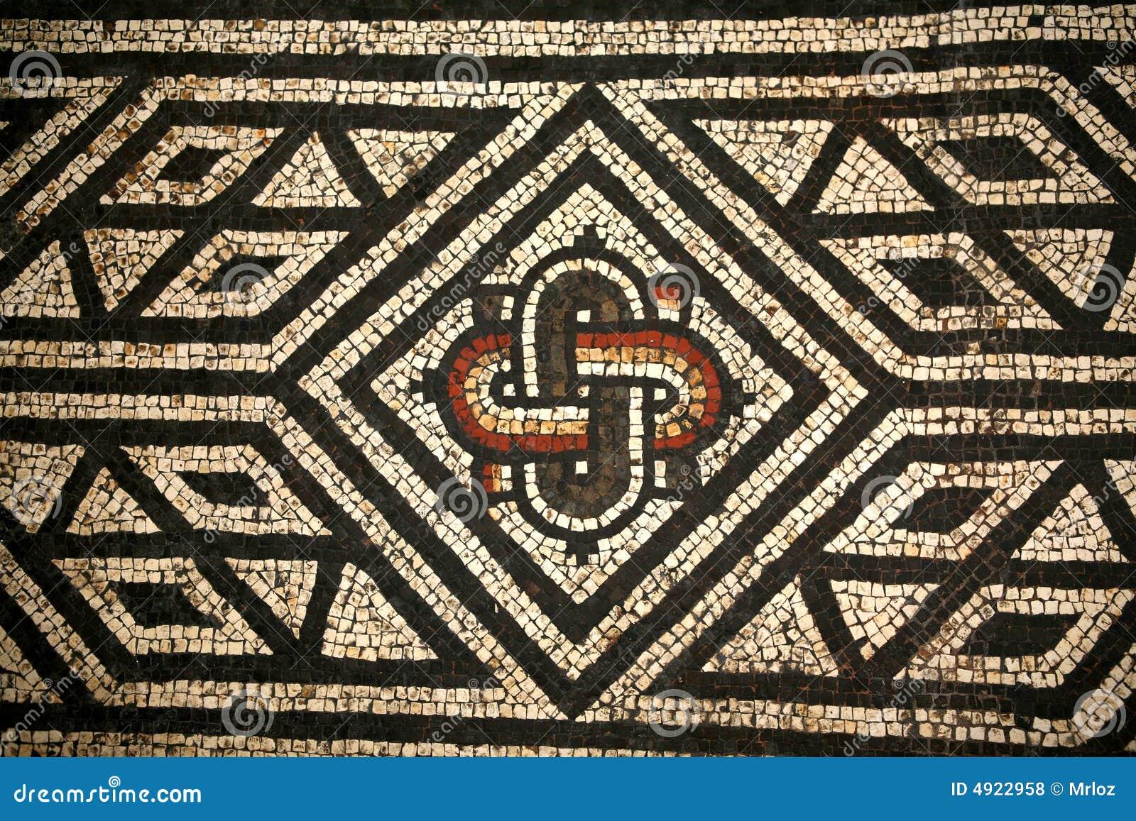 Roman Mosaic Abstact Pattern Stock Illustration Illustration Of