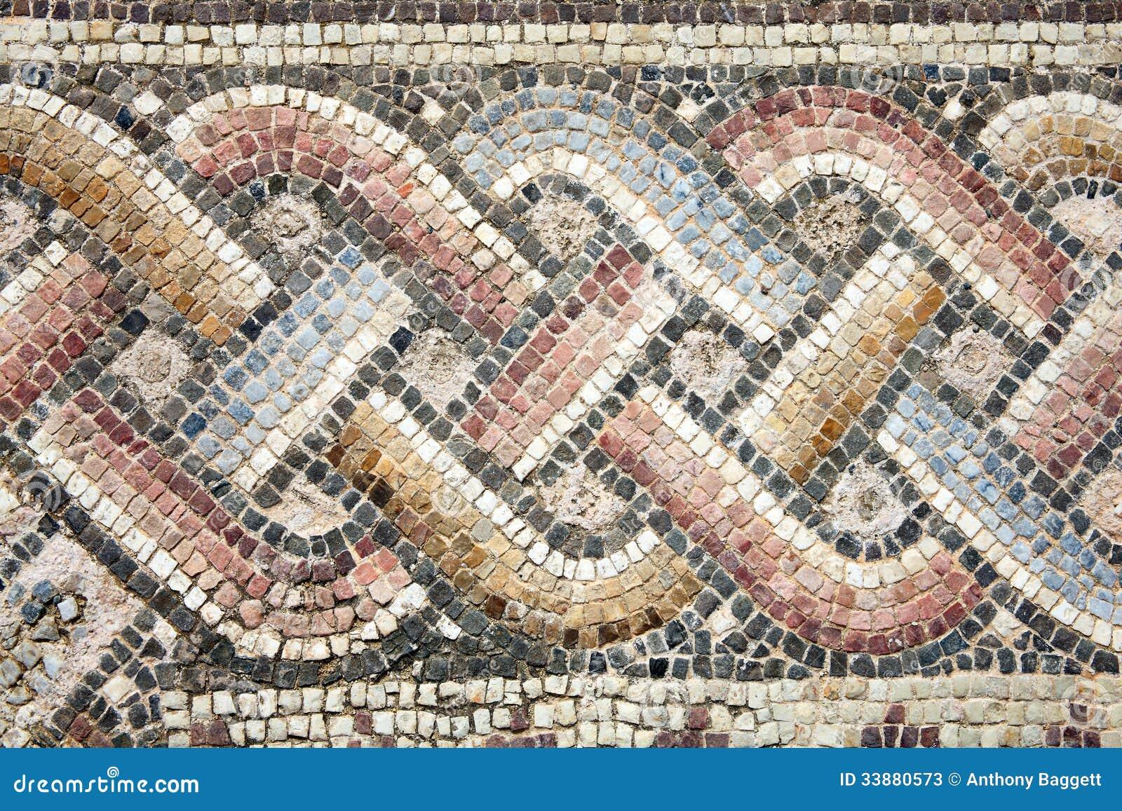Roman Mosaic Stock Image Image Of Surface Greek Tourism