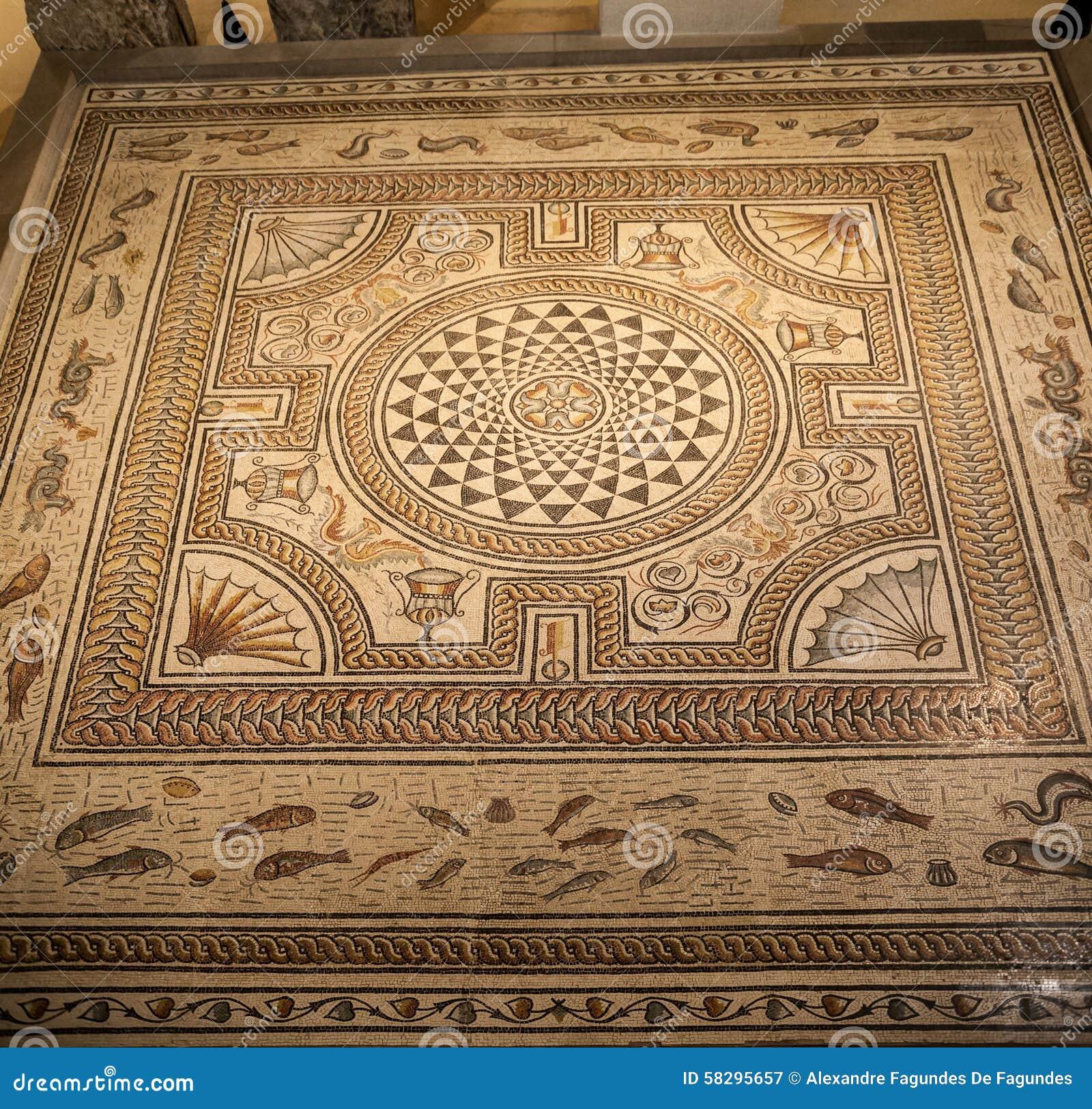 Roman Mosaic Lyon France
