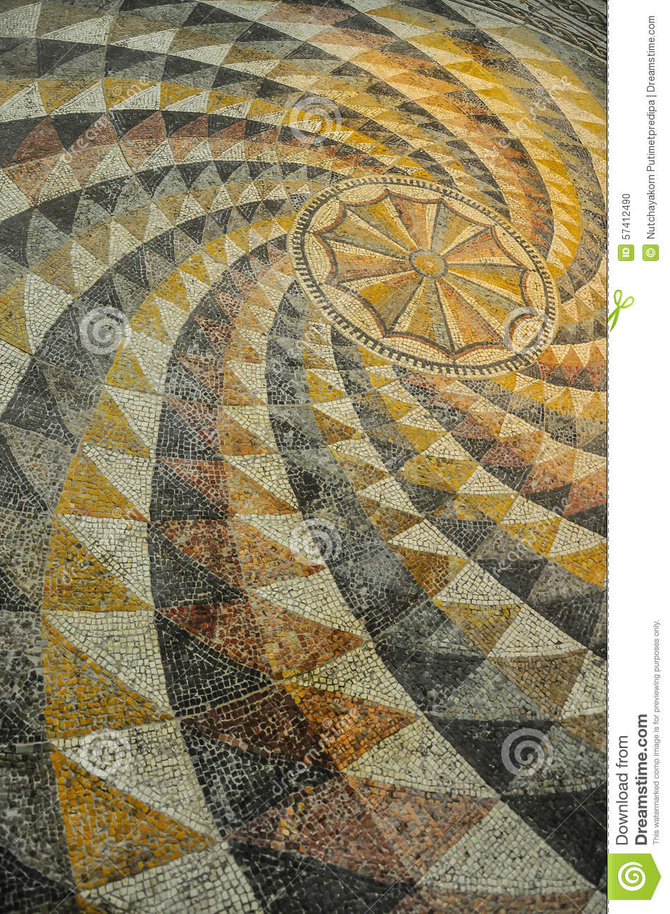 Roman Mosaic Tile Stock Photo Image Of Void Pattern
