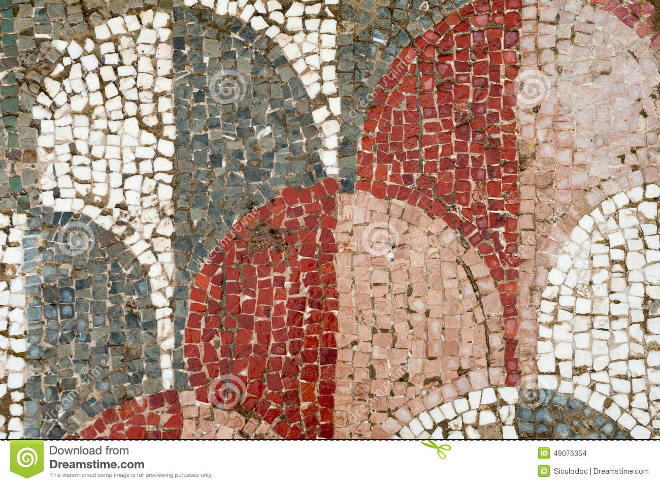 Roman Mosaics Stock Photo Image Of Piazza Mosaic