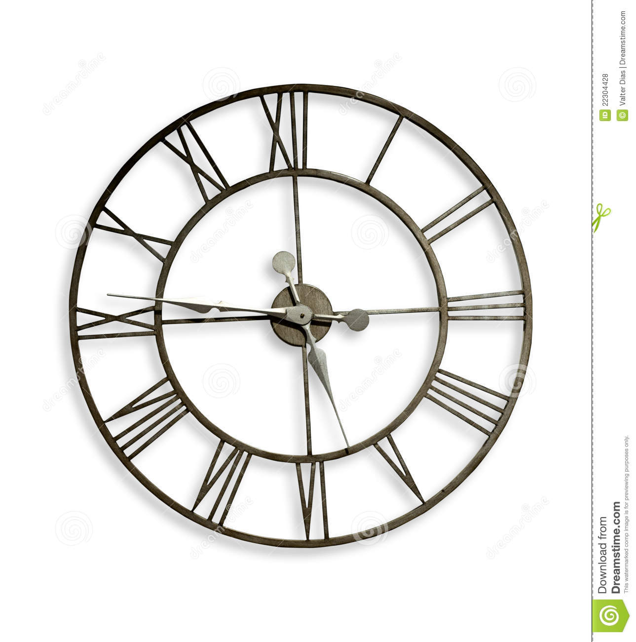 Roman numeral wall clock stock photo image of time metal 22304428 royalty free stock photo download roman numeral wall clock amipublicfo Gallery