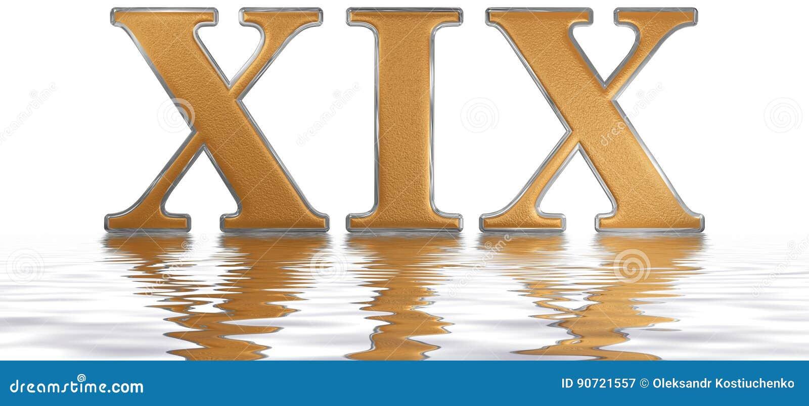 Xxxix Roman Numeral on Flash Cards
