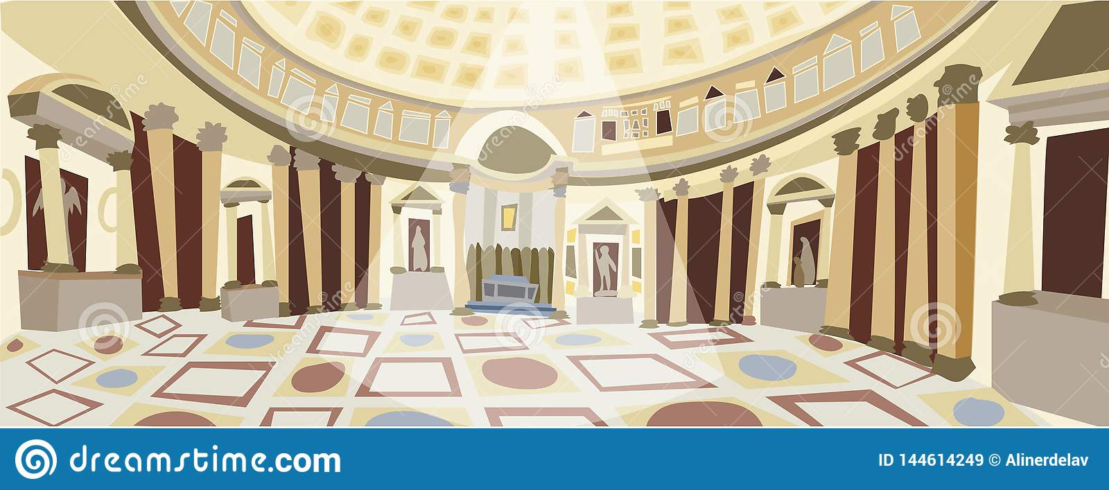 Roman Pantheon-vector