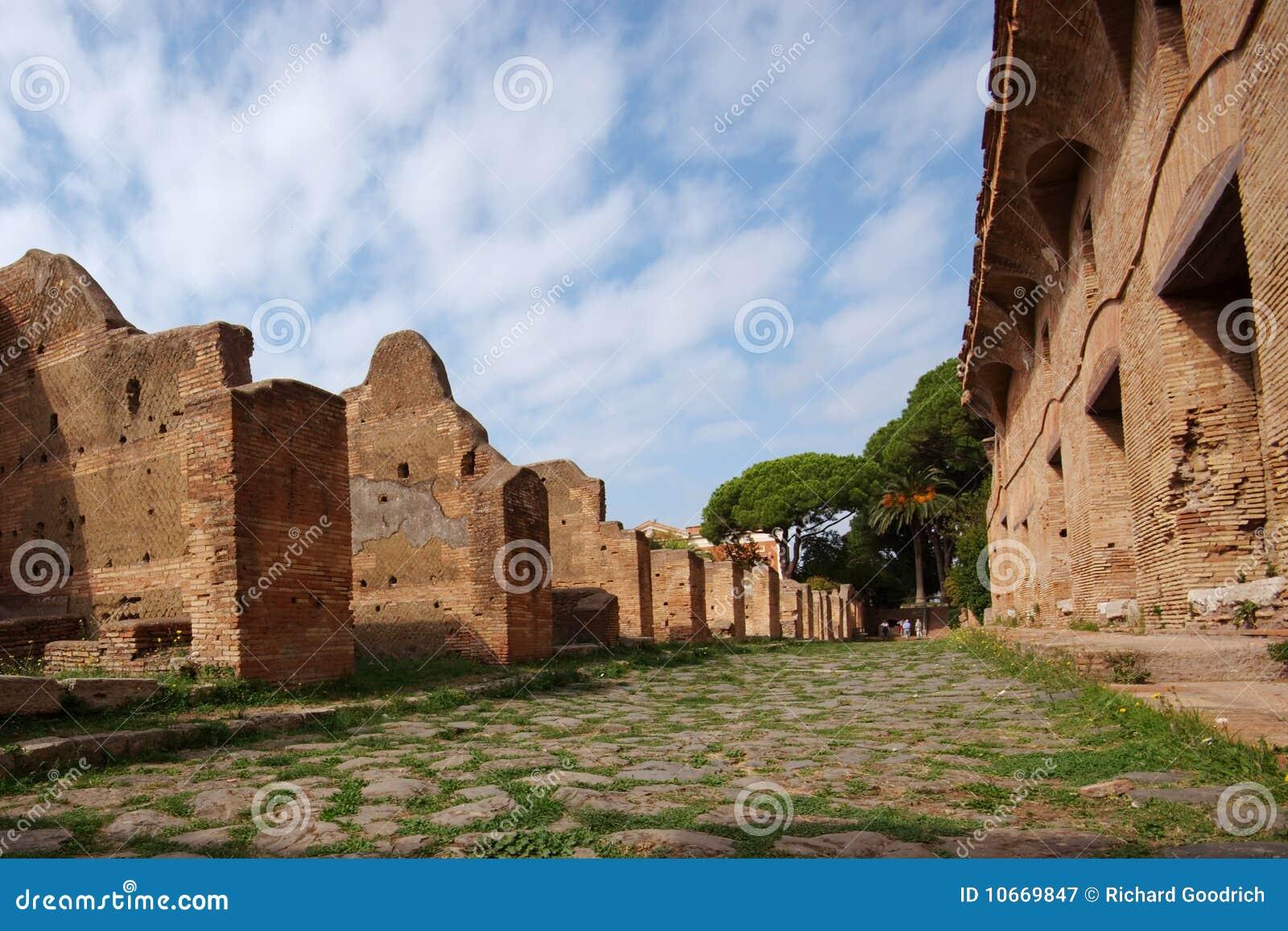 Roman road ostia antica italy royalty free stock for Mr arredamenti ostia antica