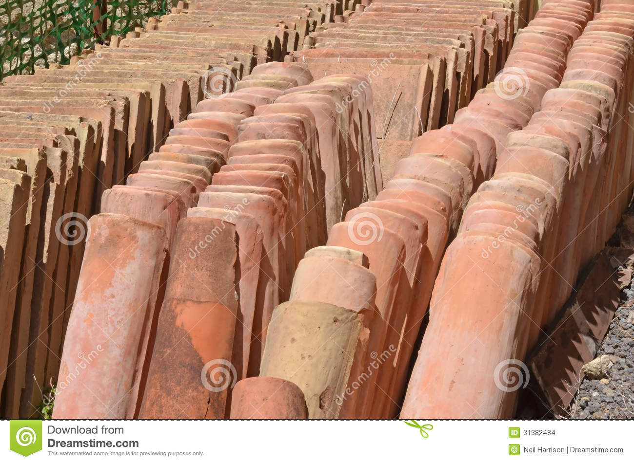 Roman Roof Tiles Stock Photo Image Of Rain Building