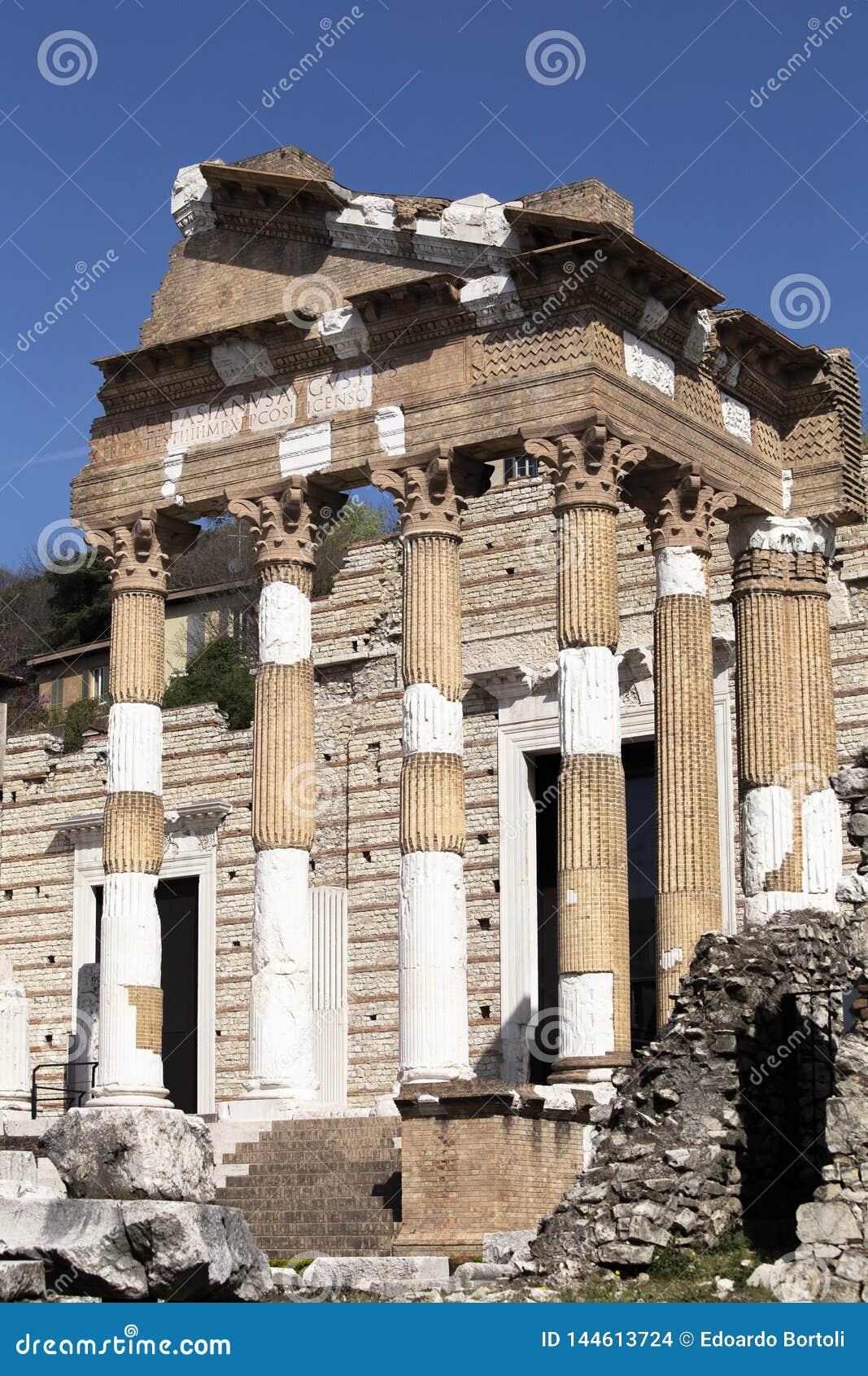 Roman ruïnes in Brescia