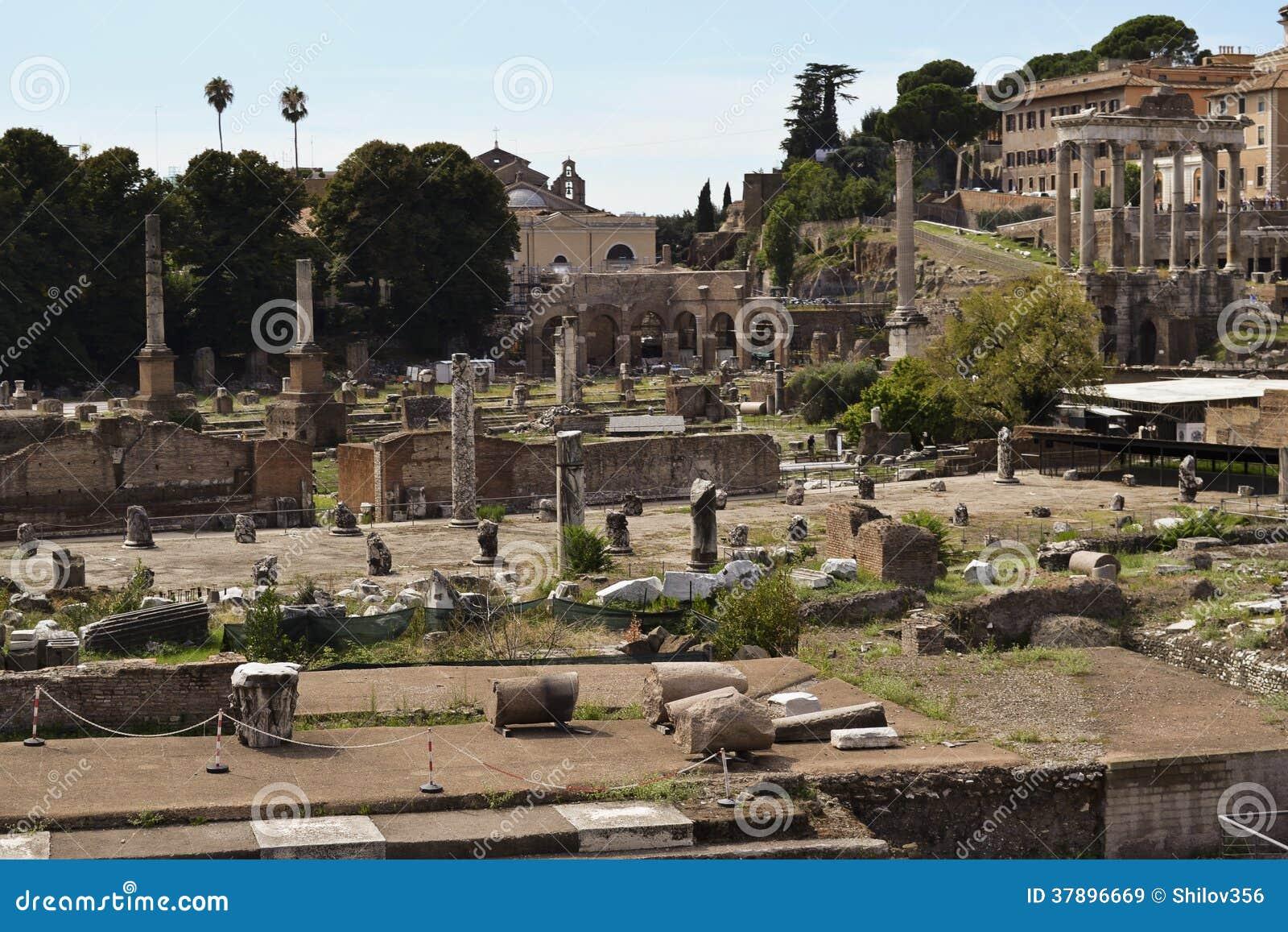Roman ruïnes in Rome, Forum