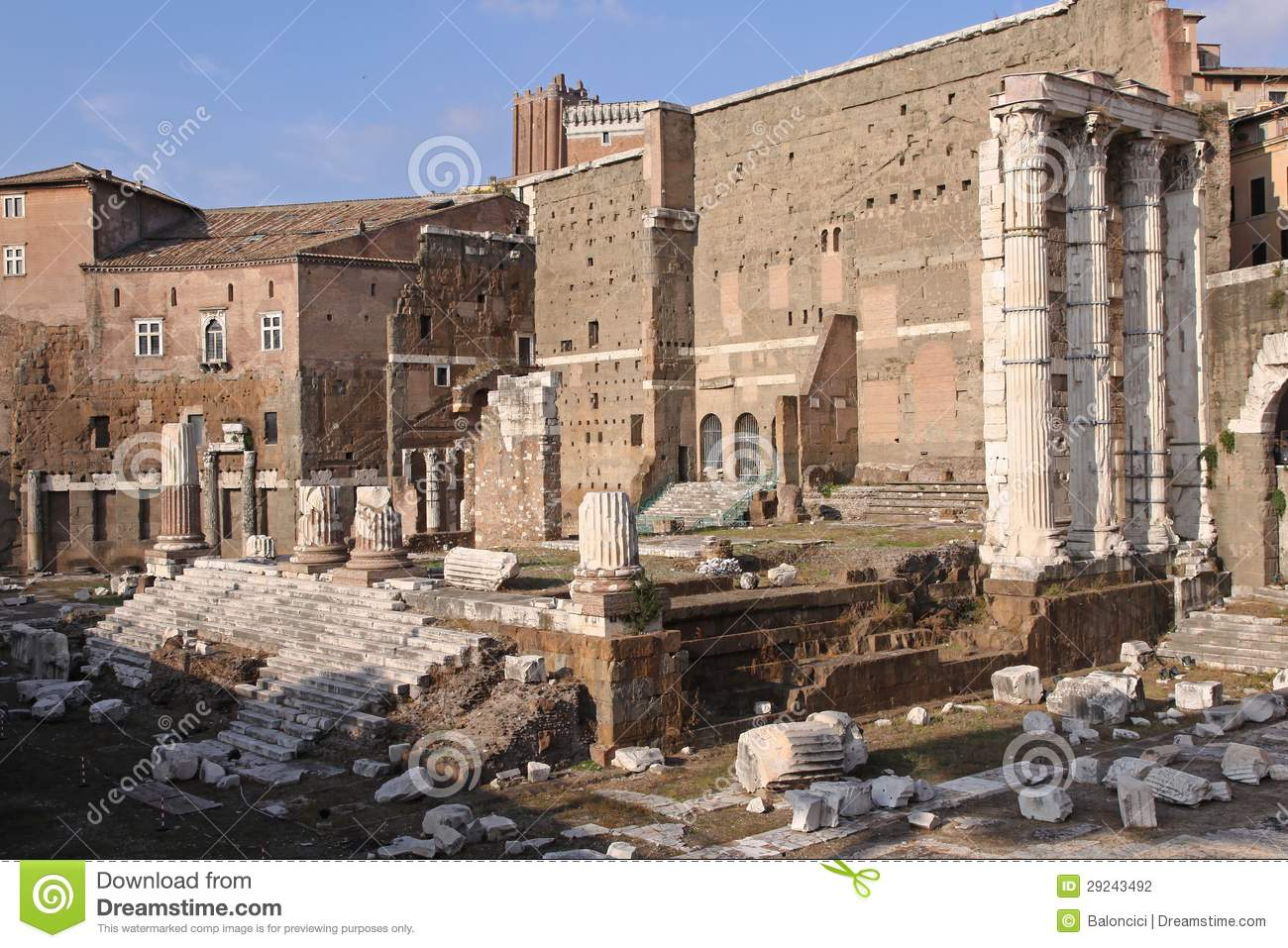 Roman Ruins Stock Photography - Image: 29243492