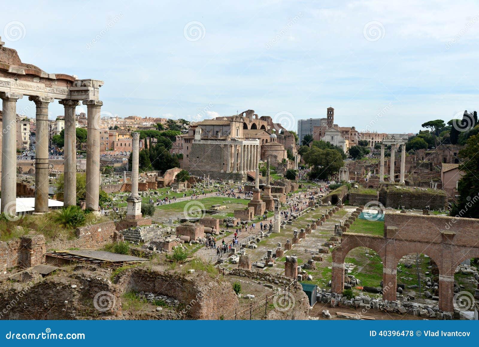 Roman ruins in rome stock photo image 40396478