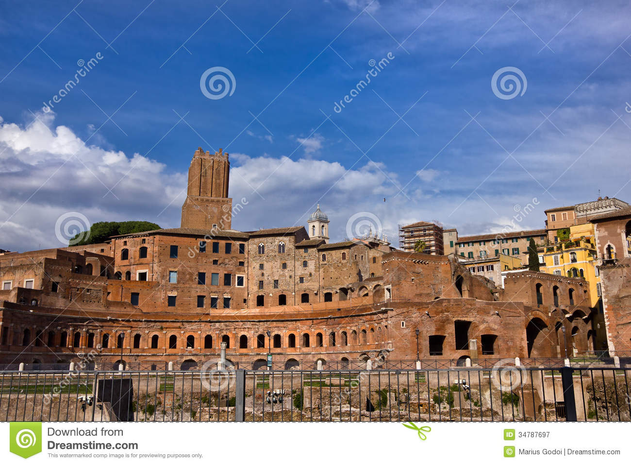 Roman Ruins In Rome Italy Royalty Free Stock Photography - Image ...