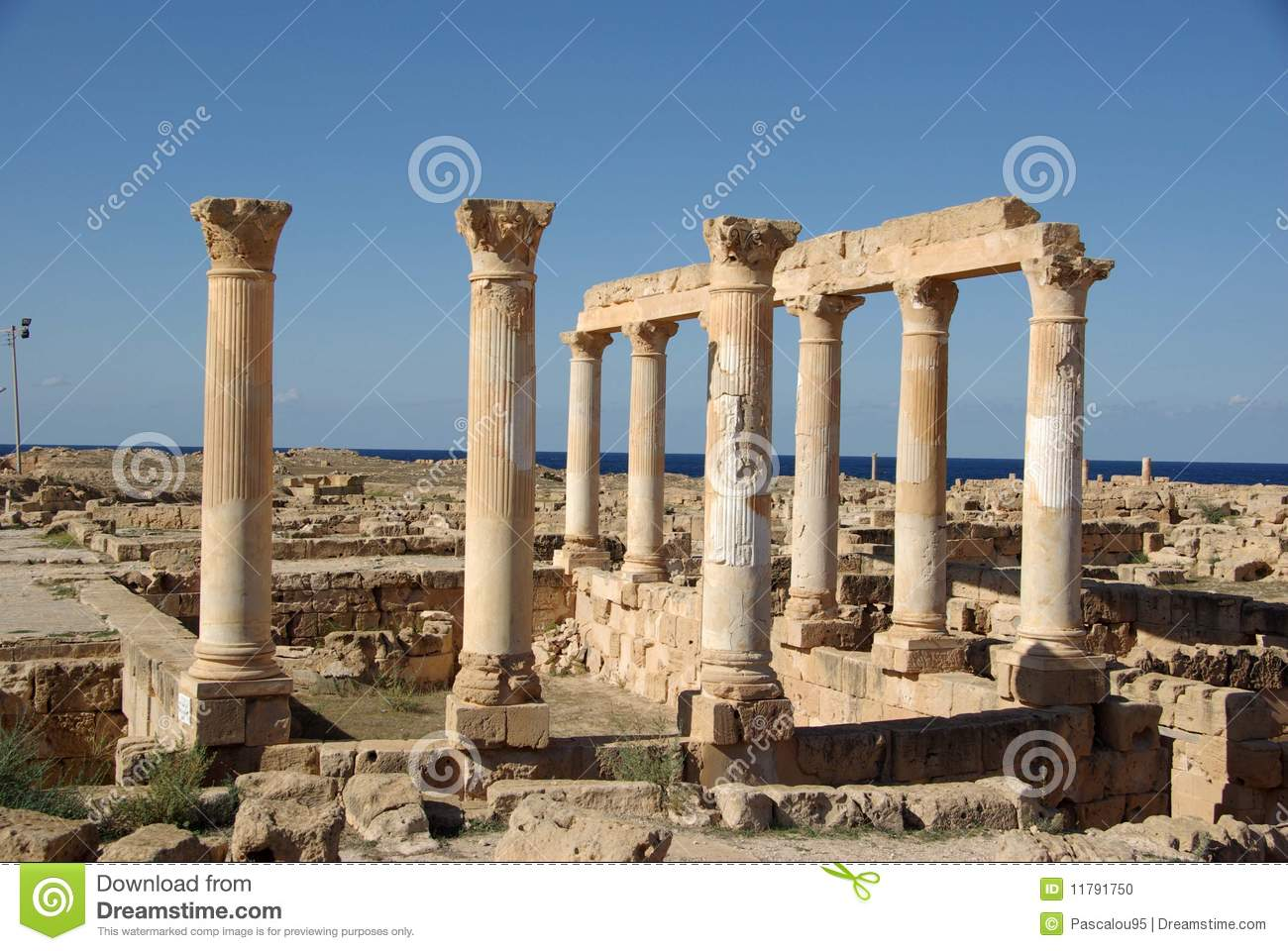 Roman Ruins Of Sabratha, Libya Stock Photo - Image: 11791750
