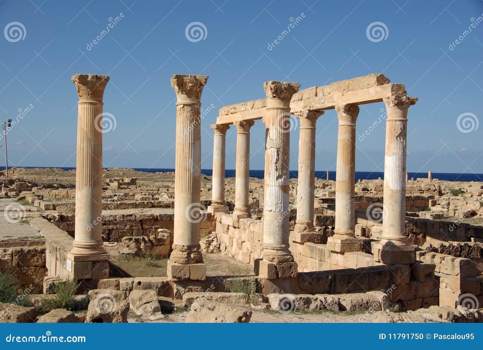 Roman Ruins Of Sabratha, Libya Stock Photo - Image: 11791750