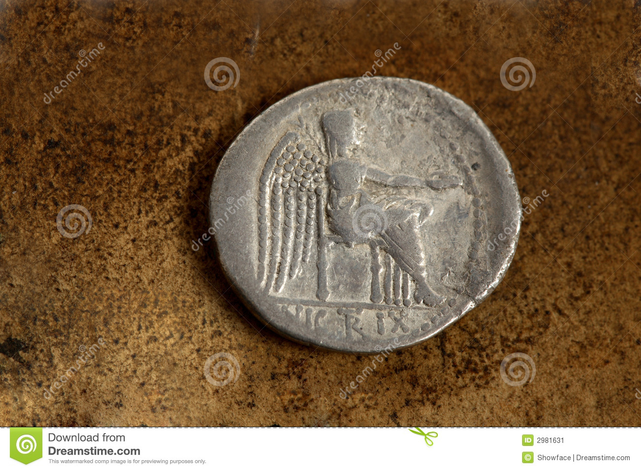 Roman Silver Coin 89 Bc Stock Image Image Of Aged