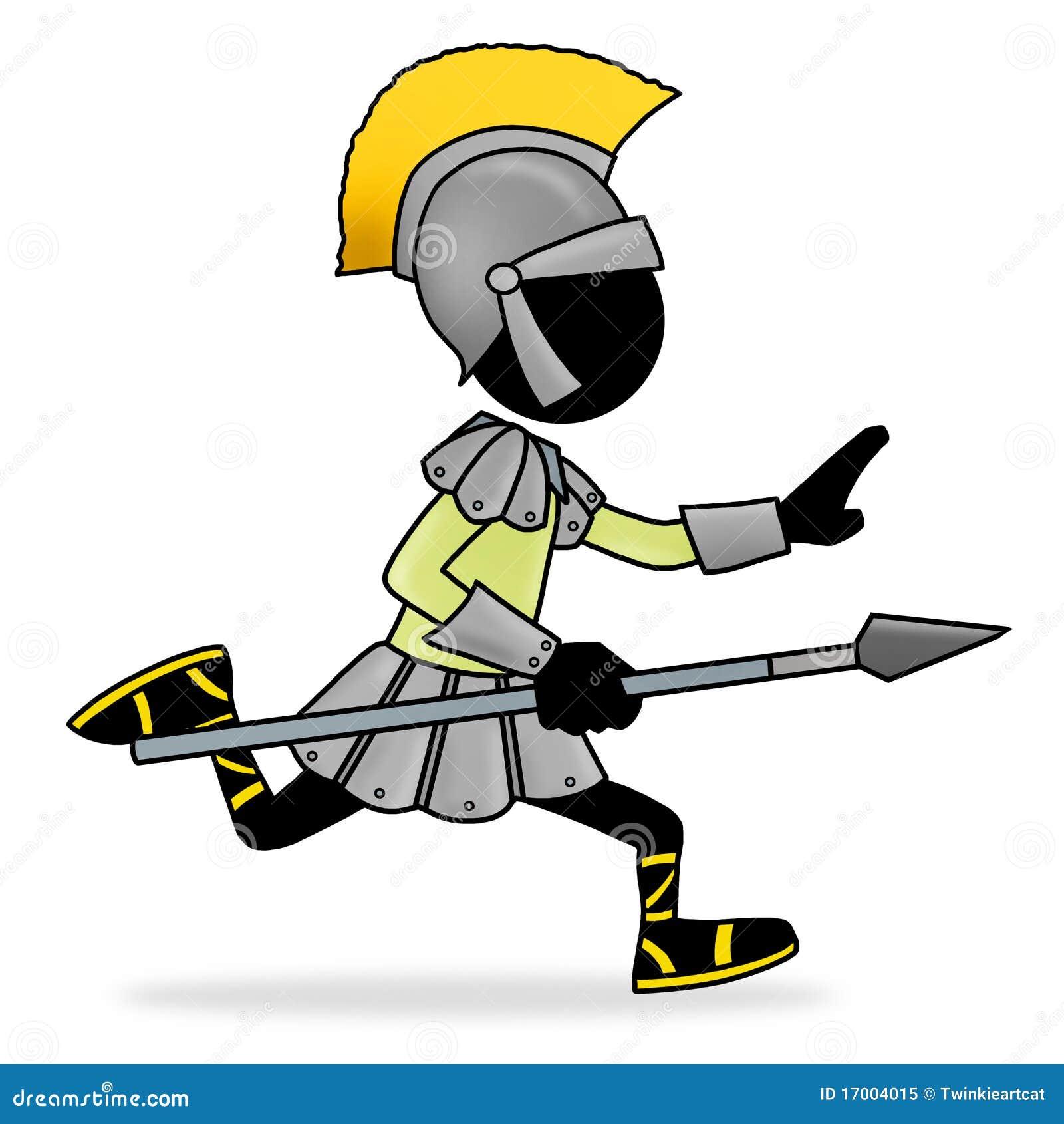 cartoon roman soldier silhouette stock vector image 85155804
