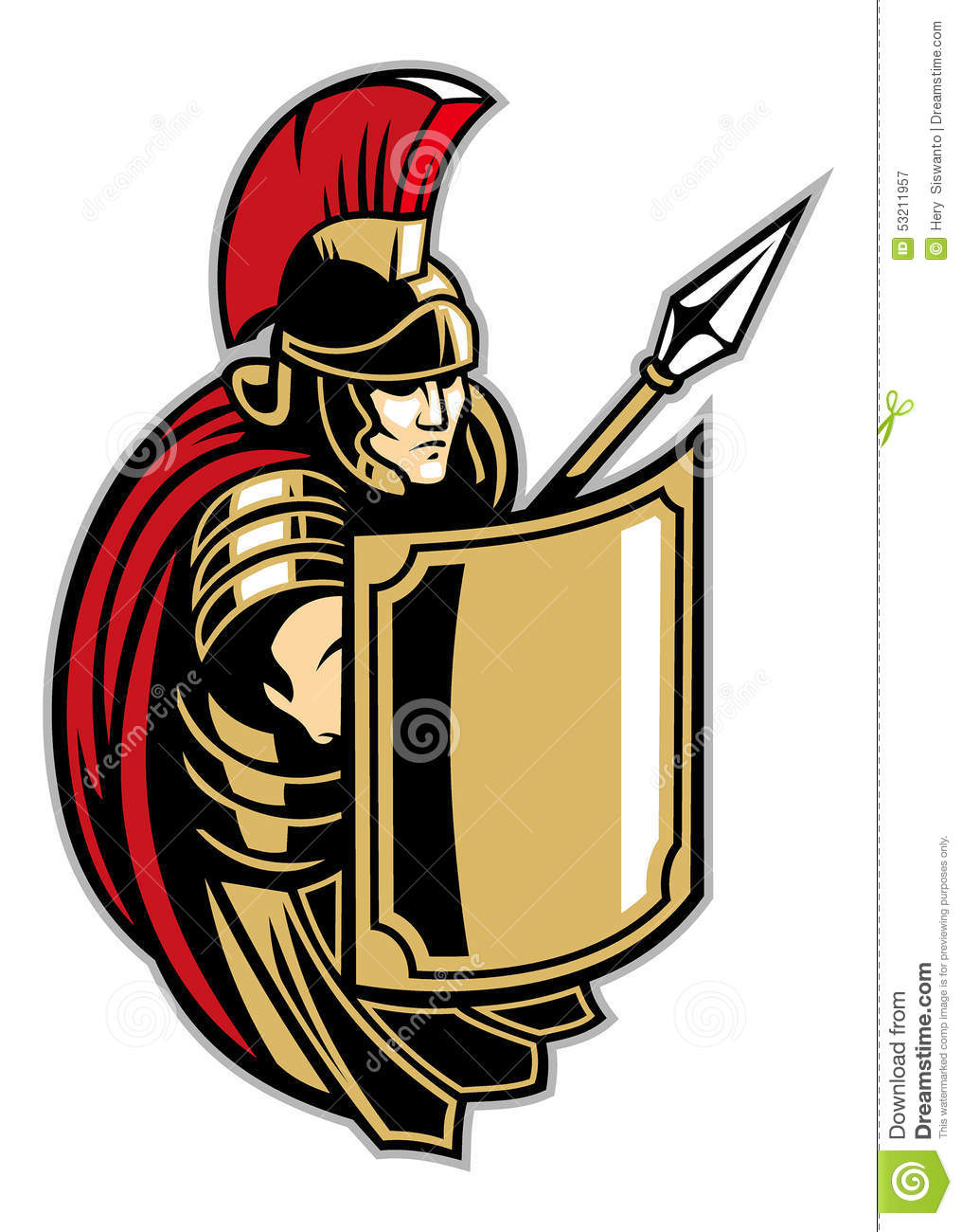 Roman soldier with big shield