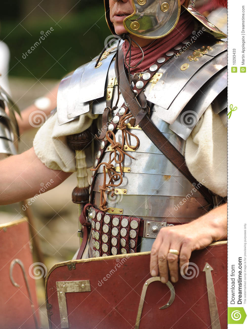 roman soldier holding shield stock photos image 10293433