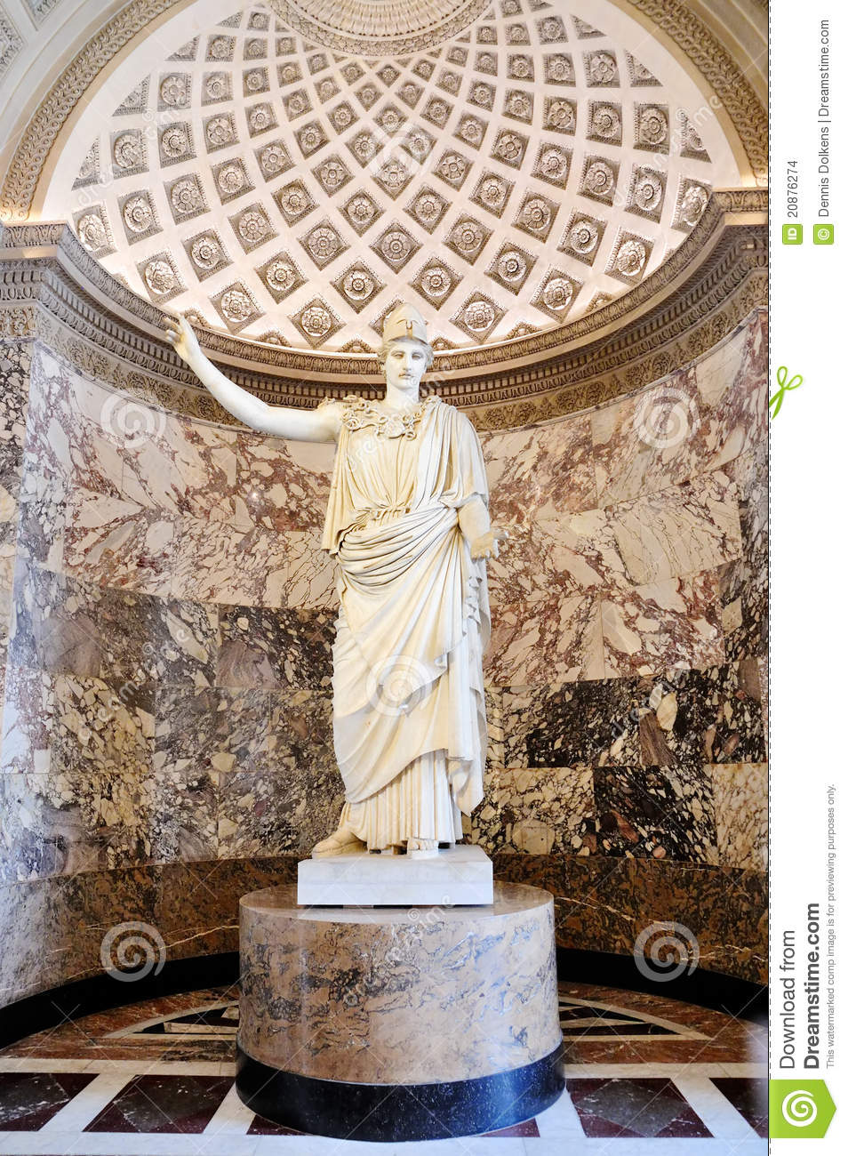 roman statue in the louvre editorial stock image image of