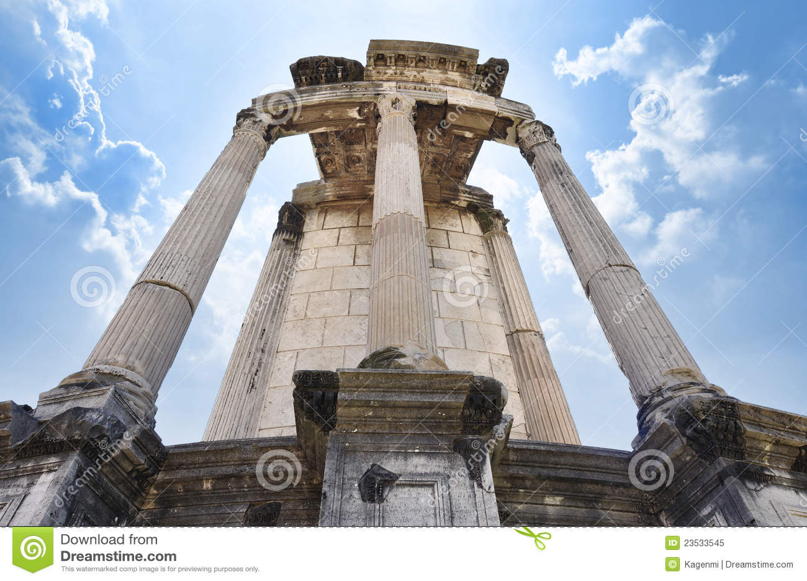 Roman tempelvesta för fora