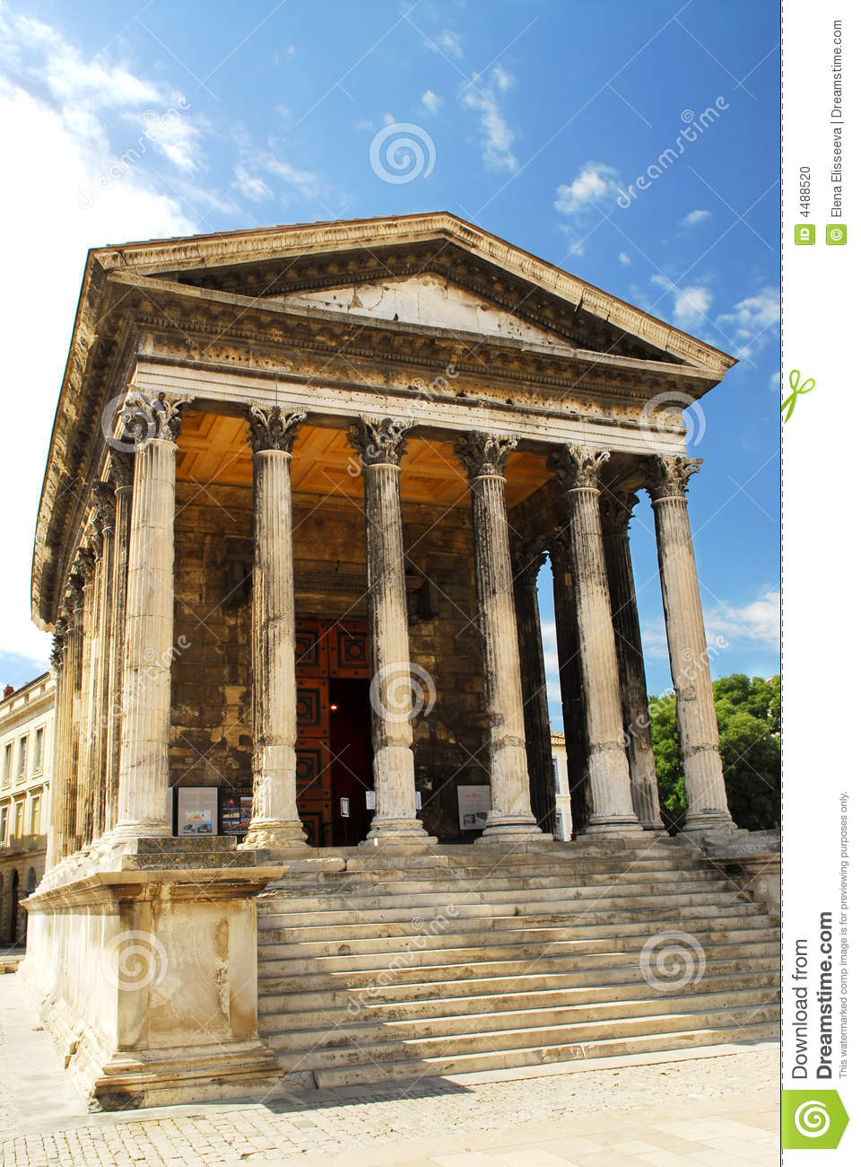 roman temple in nimes france stock photo image 4488520. Black Bedroom Furniture Sets. Home Design Ideas