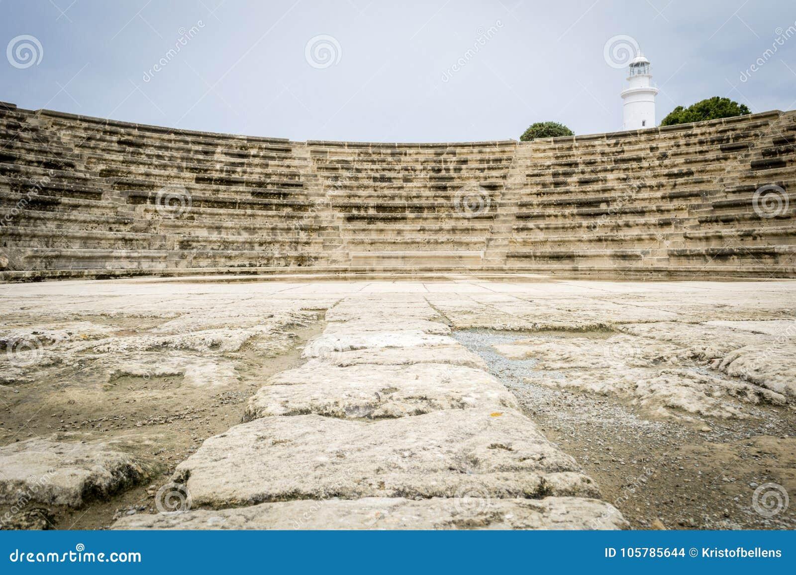 Roman theater Pafos Odeon, Cyprus