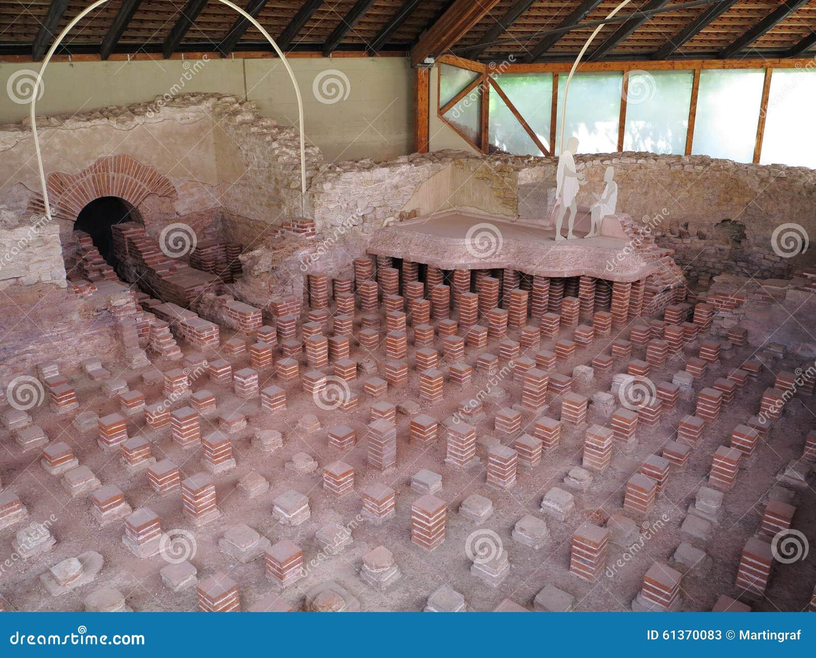 Ancient Roman Thermal Bath Tepidarium Stock Photo Image