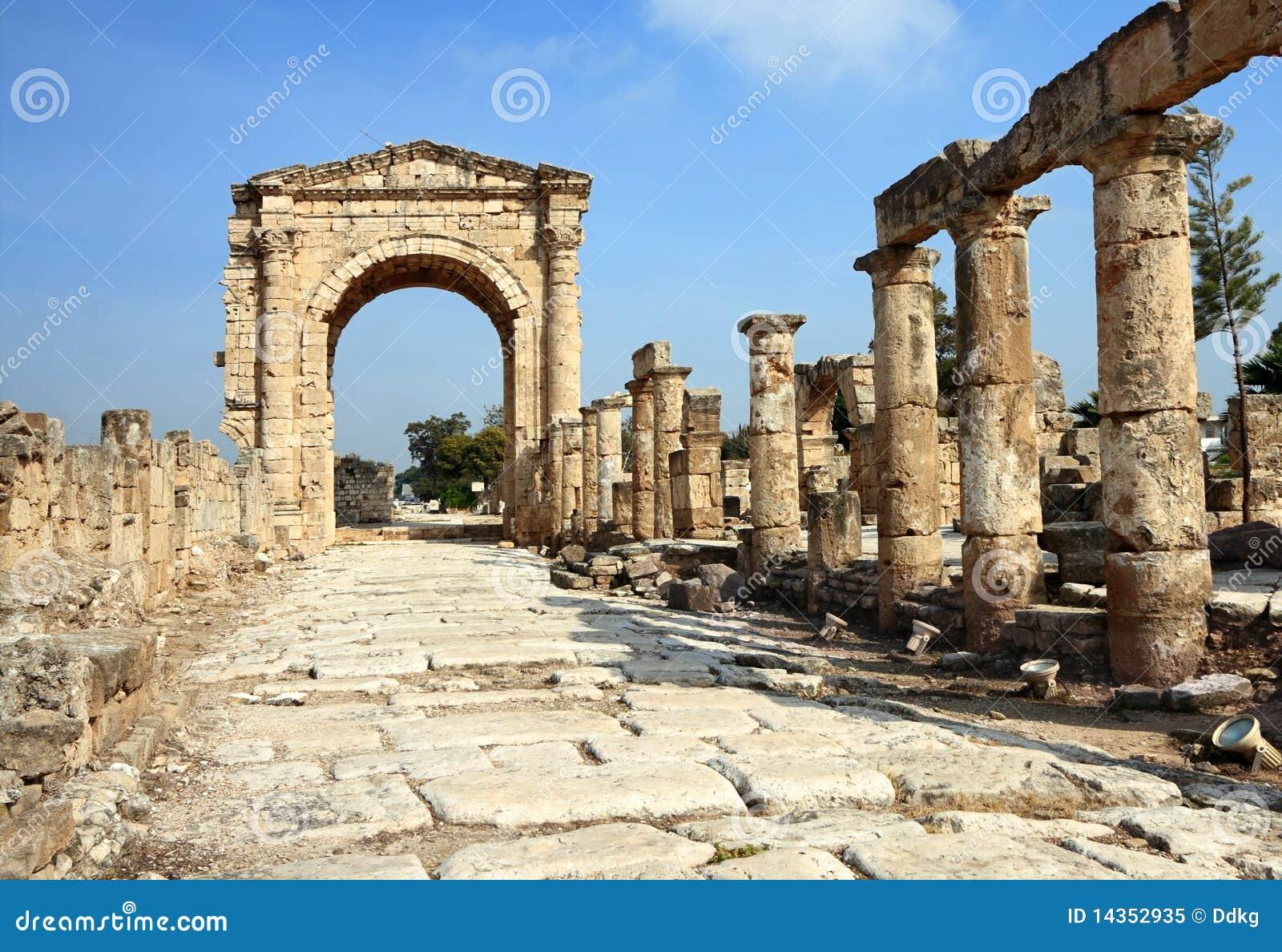 Roman triumphal däck för ärke- lebanon väg