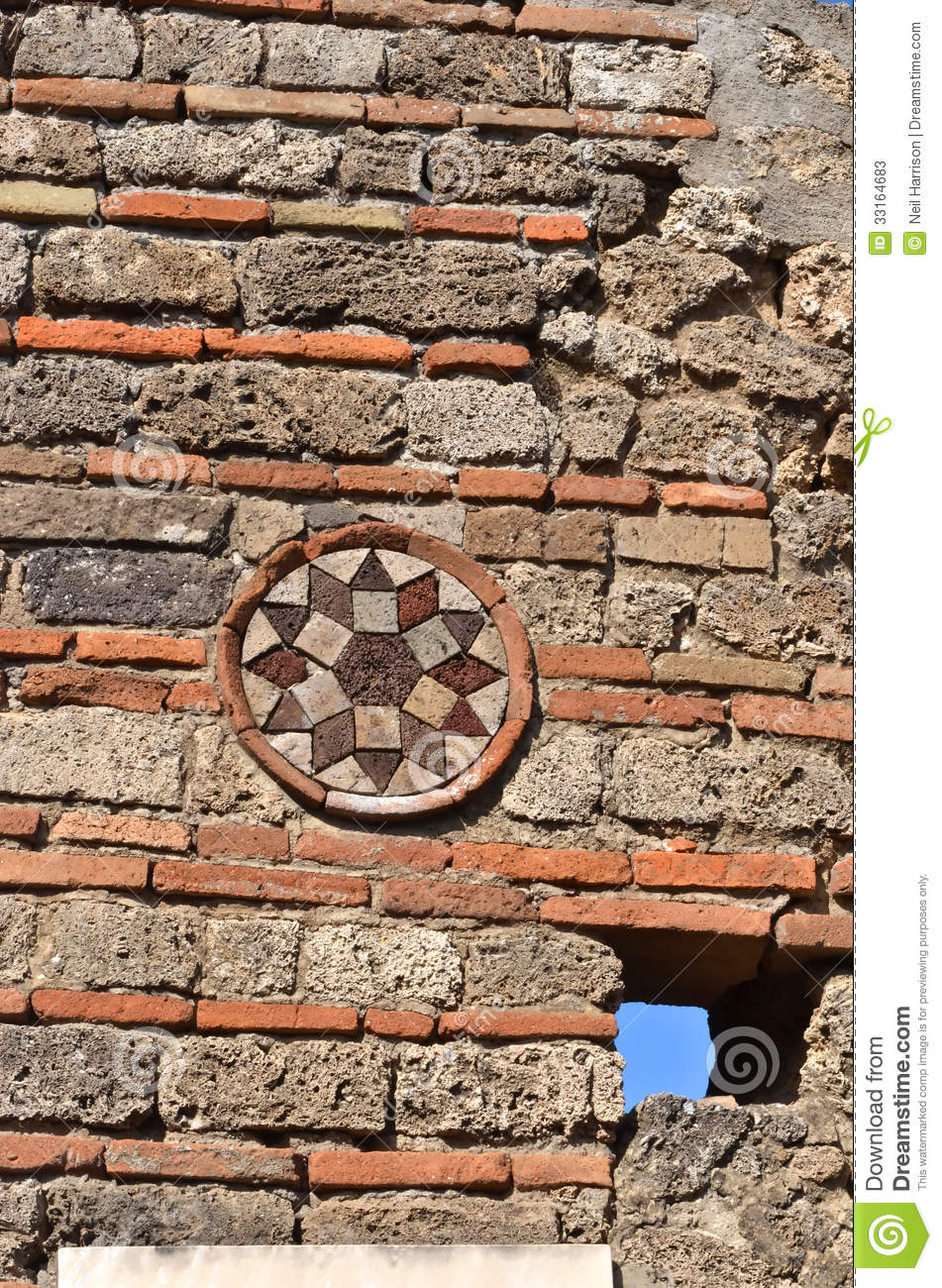 Roman wall decoration stock photos image 33164683 for Ancient decoration
