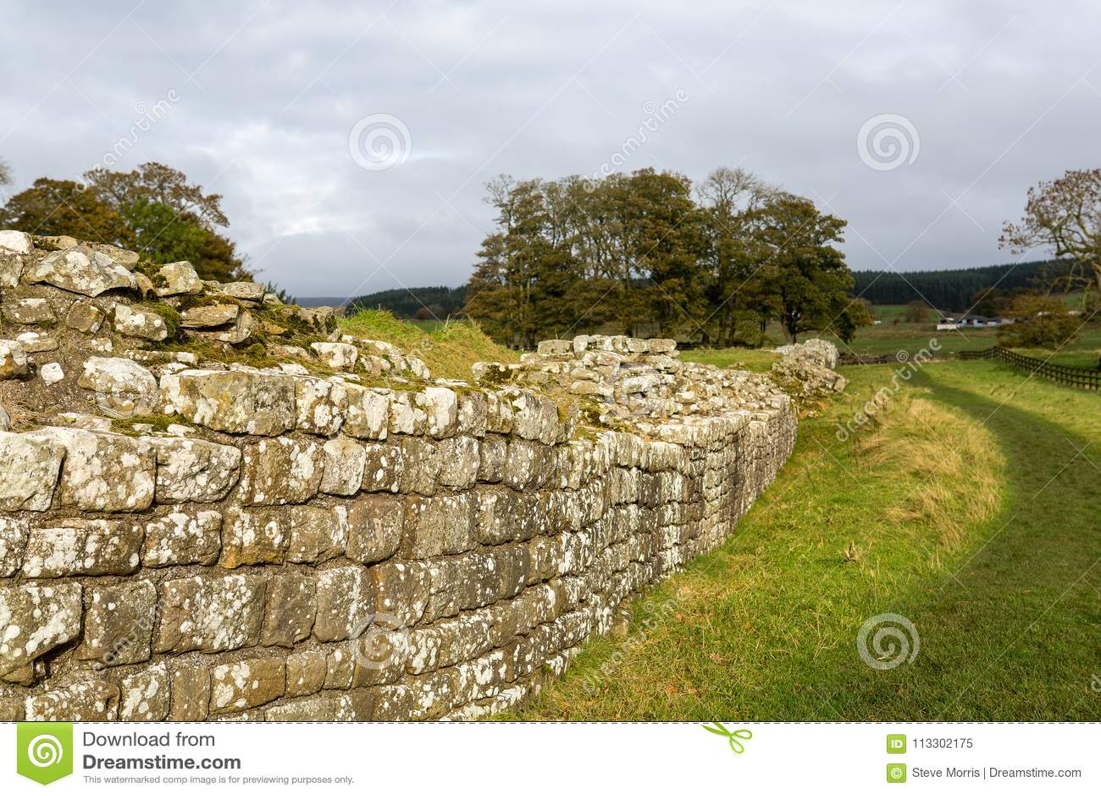 Roman Wall på Birdsowald