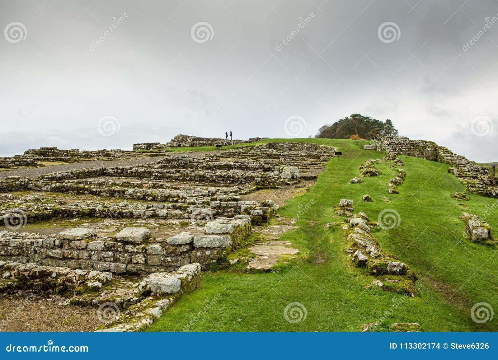 Roman Wall på Housesteads