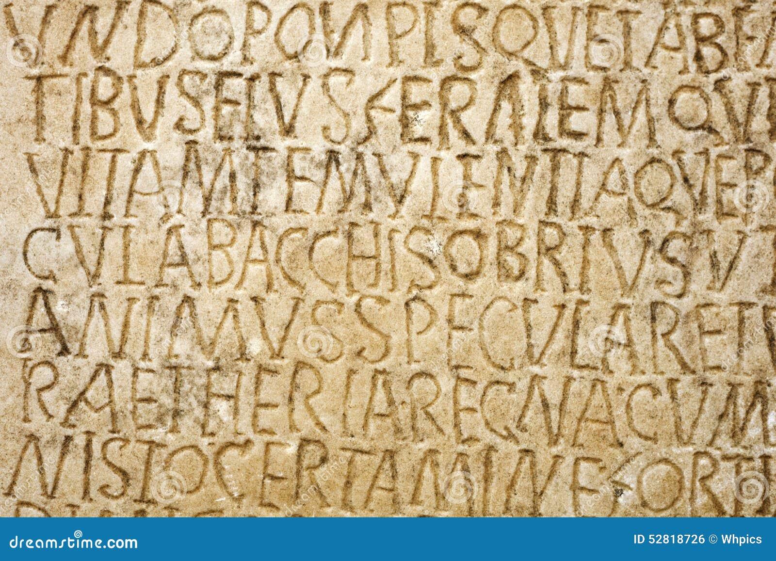 Roman writing stock photo. Image of latin, aged, message ...
