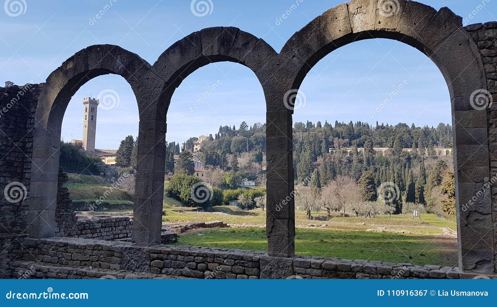 Ruin in Fiesole near Florence