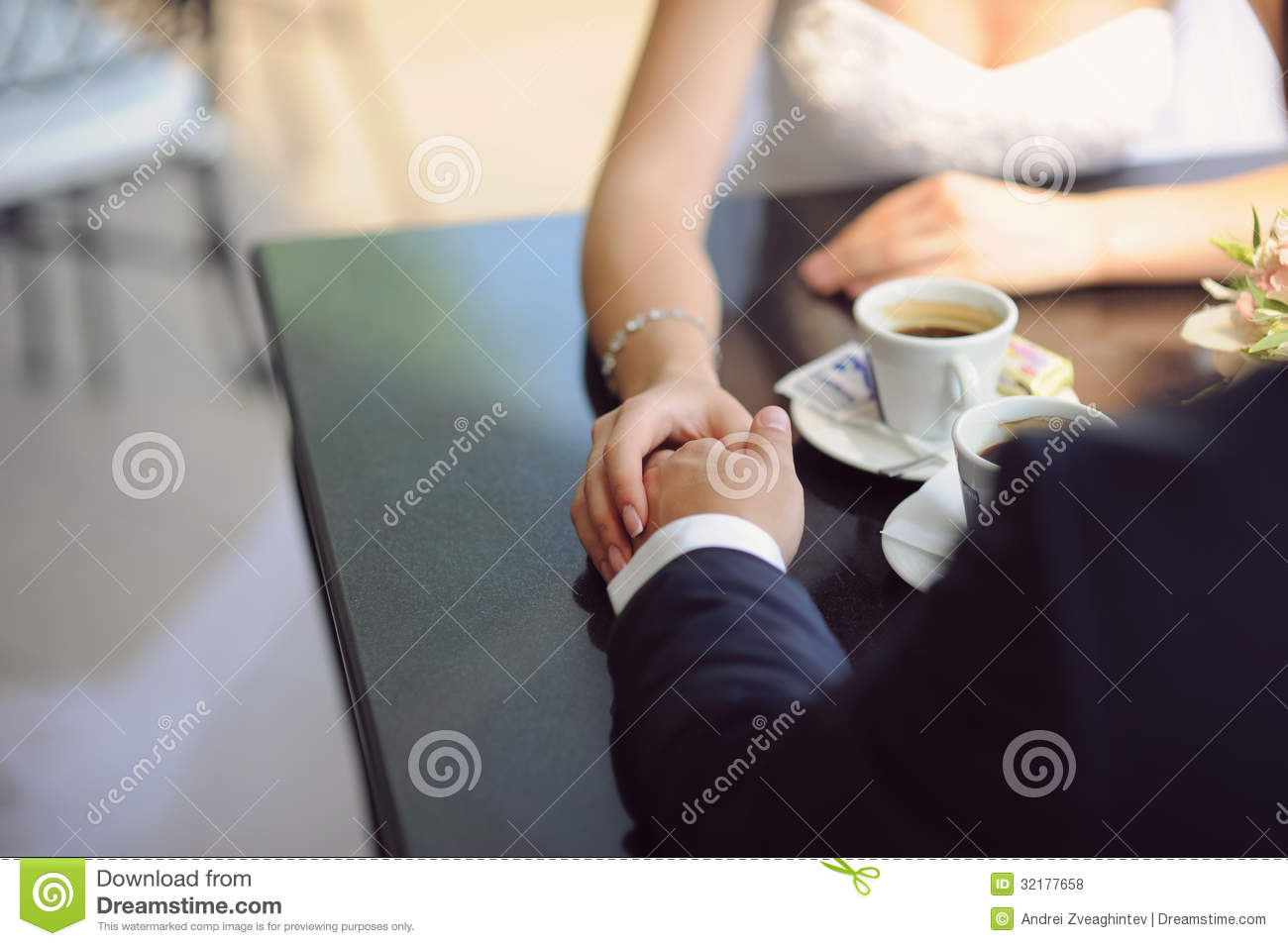 Romance In Cafe Royalty Free Stock Photos - Image: 32177658