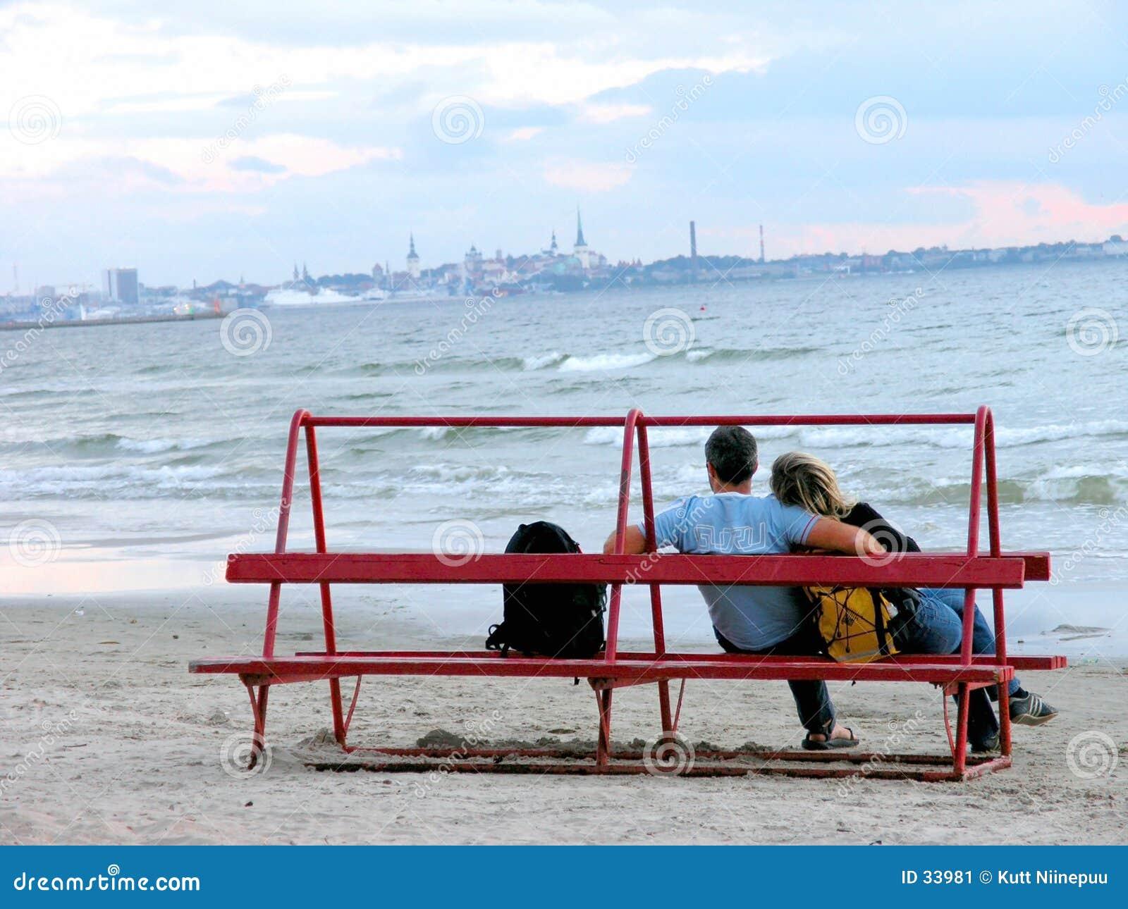 Download Romance de la tarde imagen de archivo. Imagen de coastline - 33981