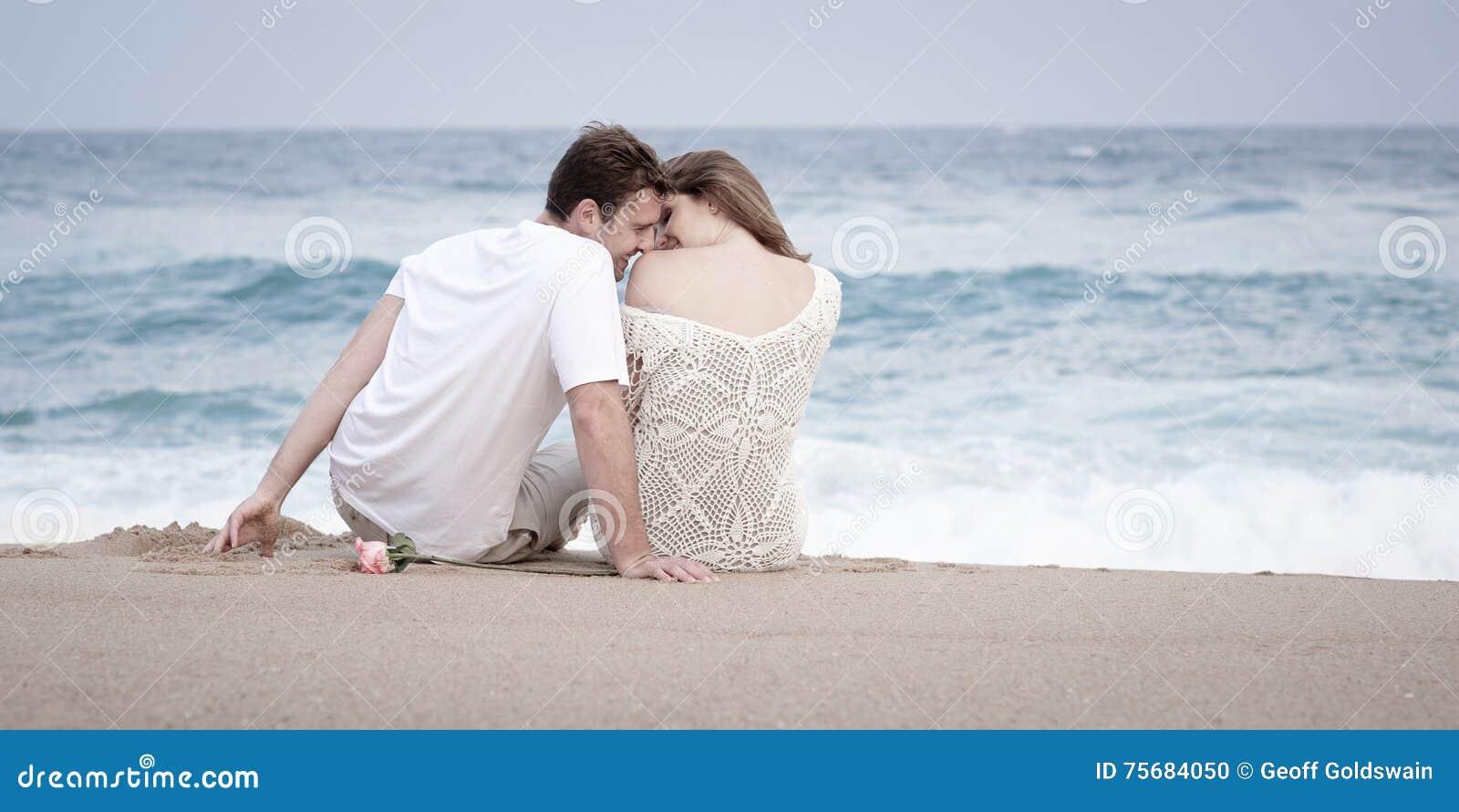 Romance Engagement Couple Love Beach Ocean Lovers Relationship