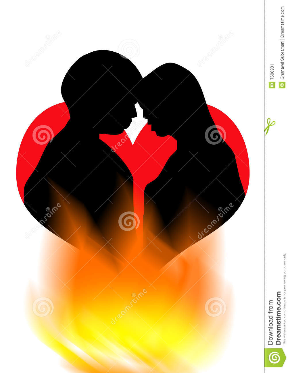 Download this Romance Kiss Romantic Love Symbol With Fire Background picture