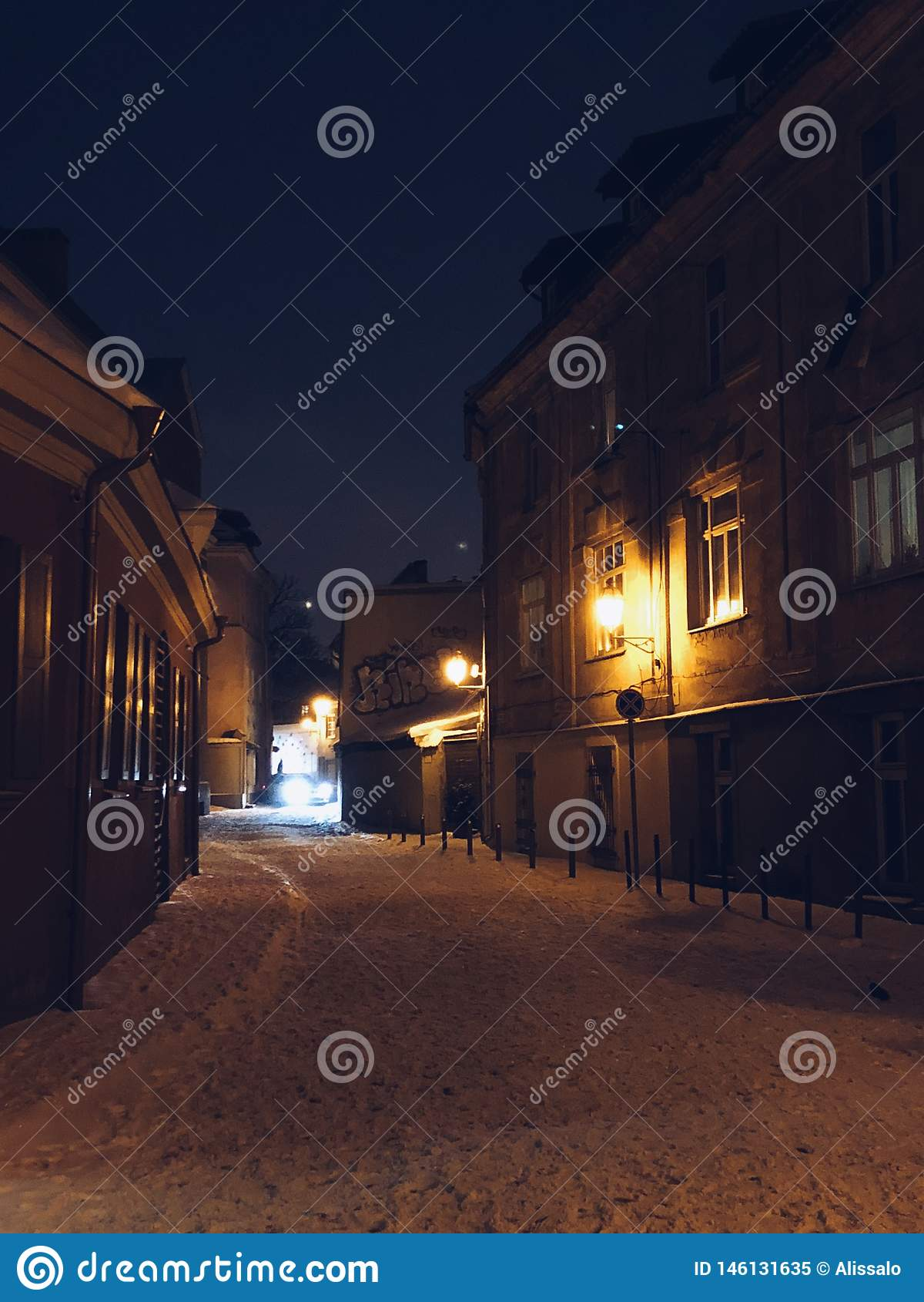 Romance velho do inverno da cidade