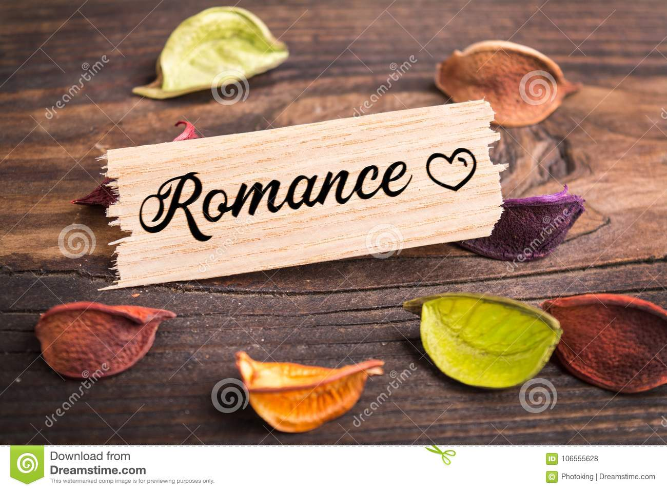 romance word in card stock illustration illustration of attachment