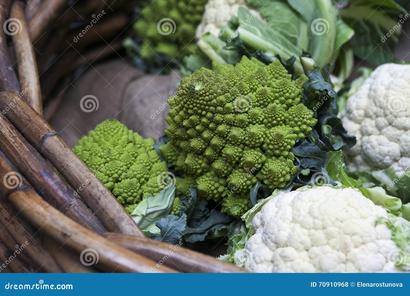 Romanescobloemkool met zijn fractal vormen en Fibonacci-sequ