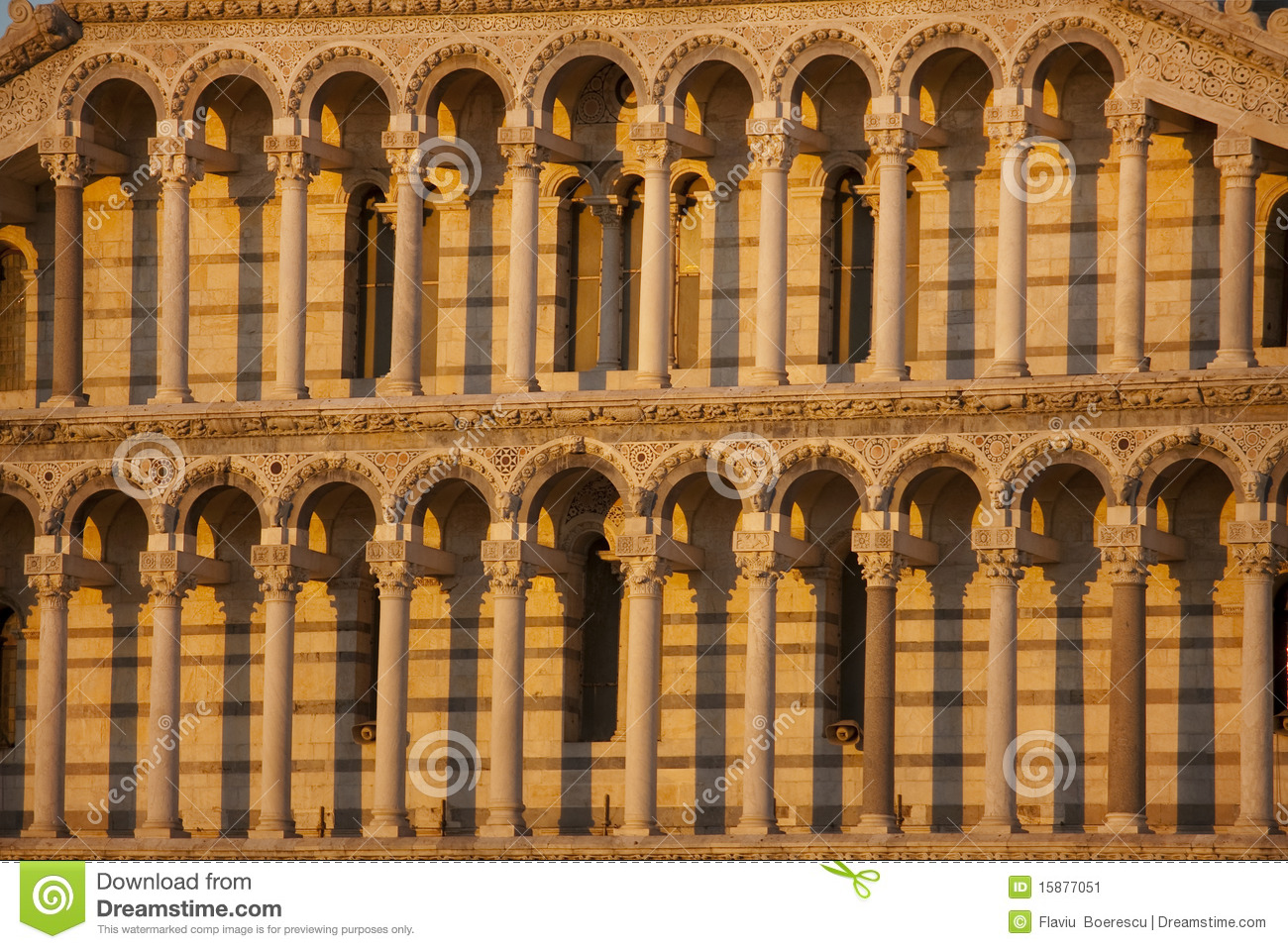 Romanesque Columns And Arches Stock Image Image 15877051