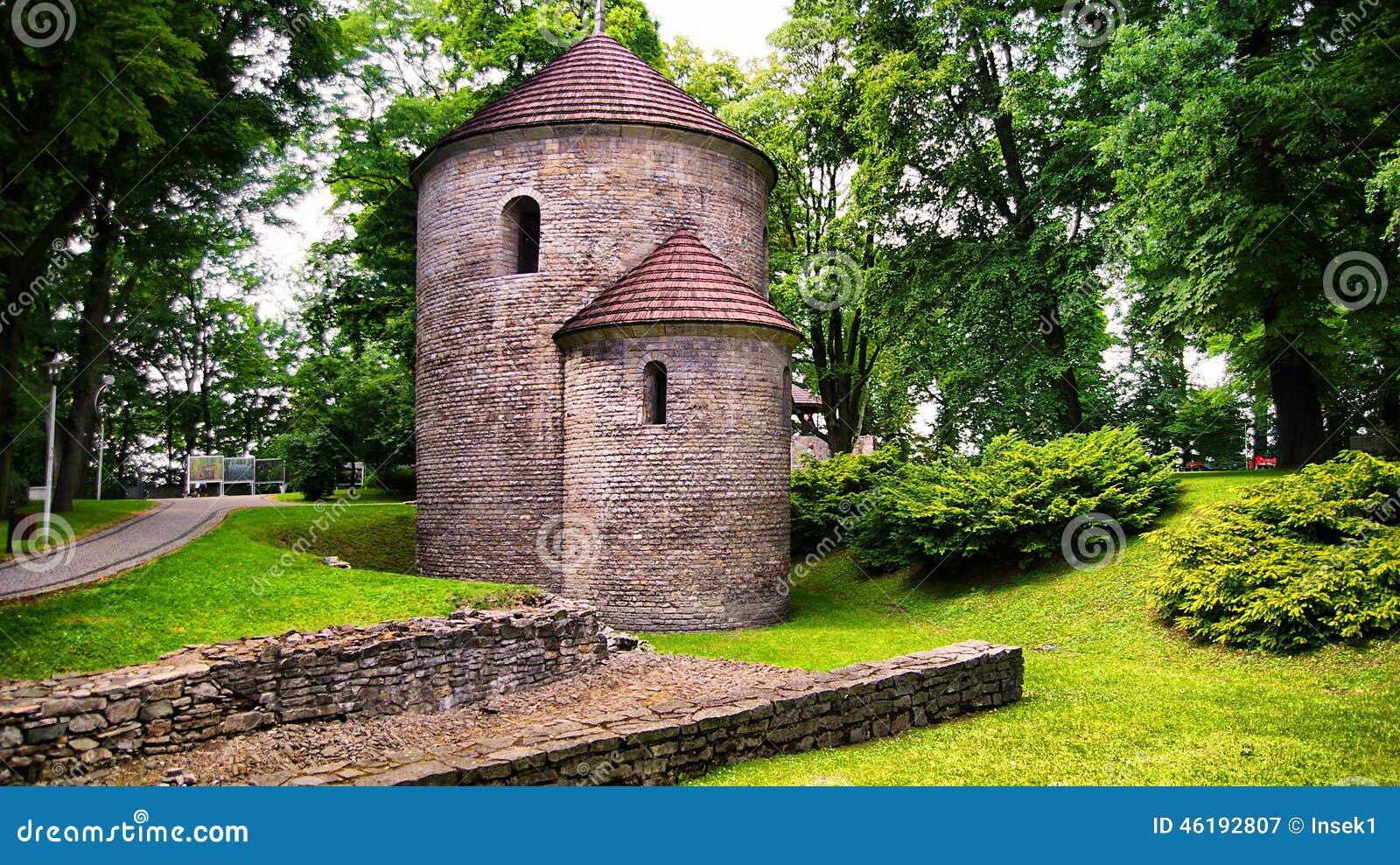 Romanesque Rotunda on Castle Hill in Cieszyn, Poland