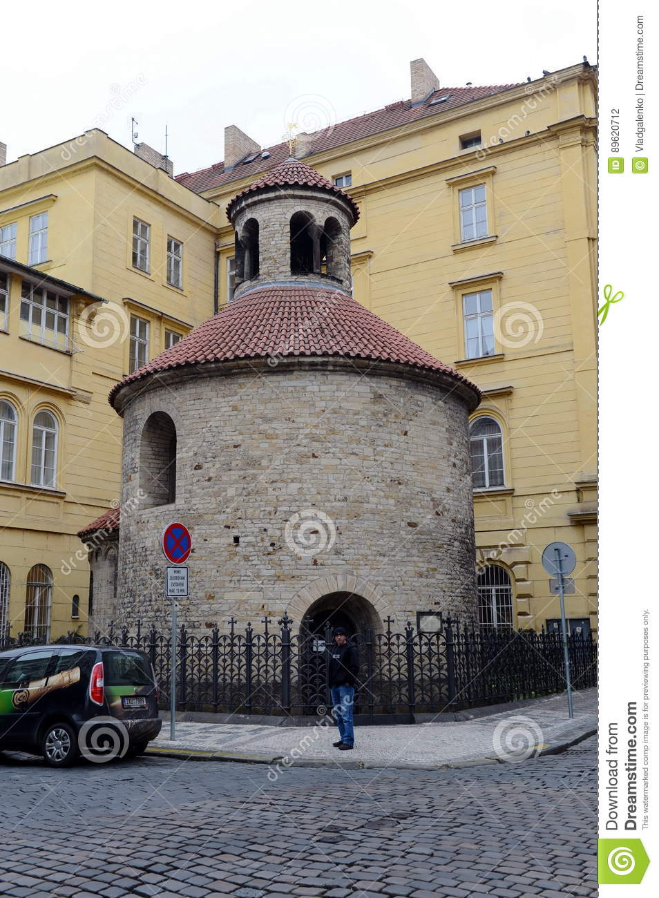 Romanesque rotunda is one of Prague's oldest buildings, starting out as parish church in about 1100.