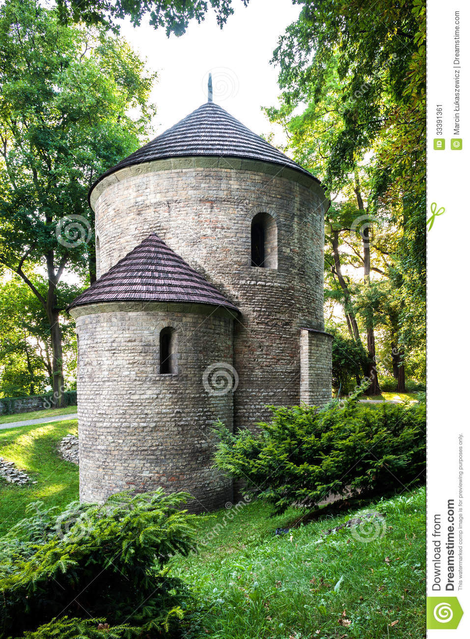 Romanesque St Nicholas Rotunda on Castle Hill in Cieszyn, Poland. One of the oldest romanesque monuments in Polish.