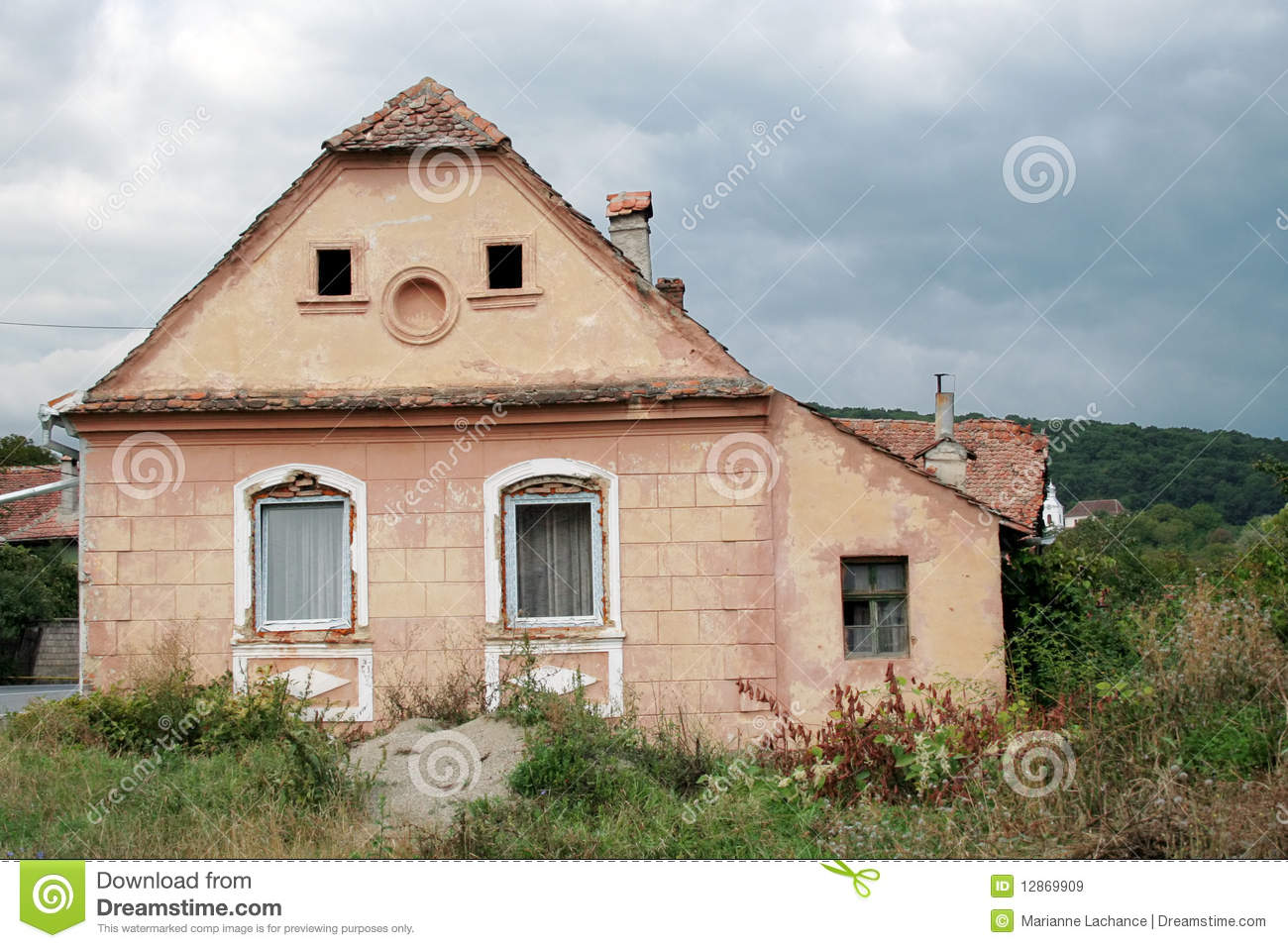 Romanian country house stock image image of neglect for Country house online