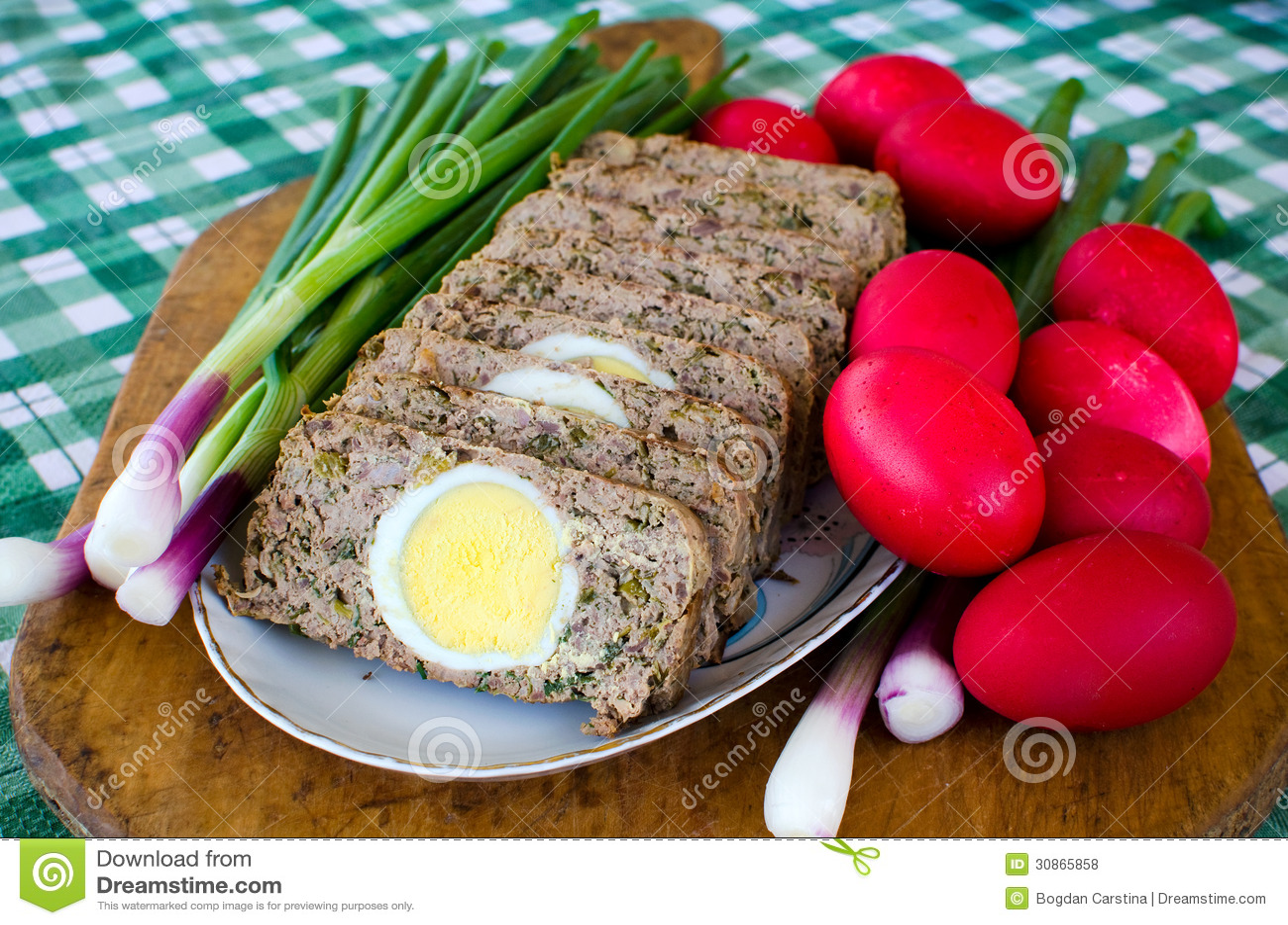 romanian easter food drob royalty free stock photos image