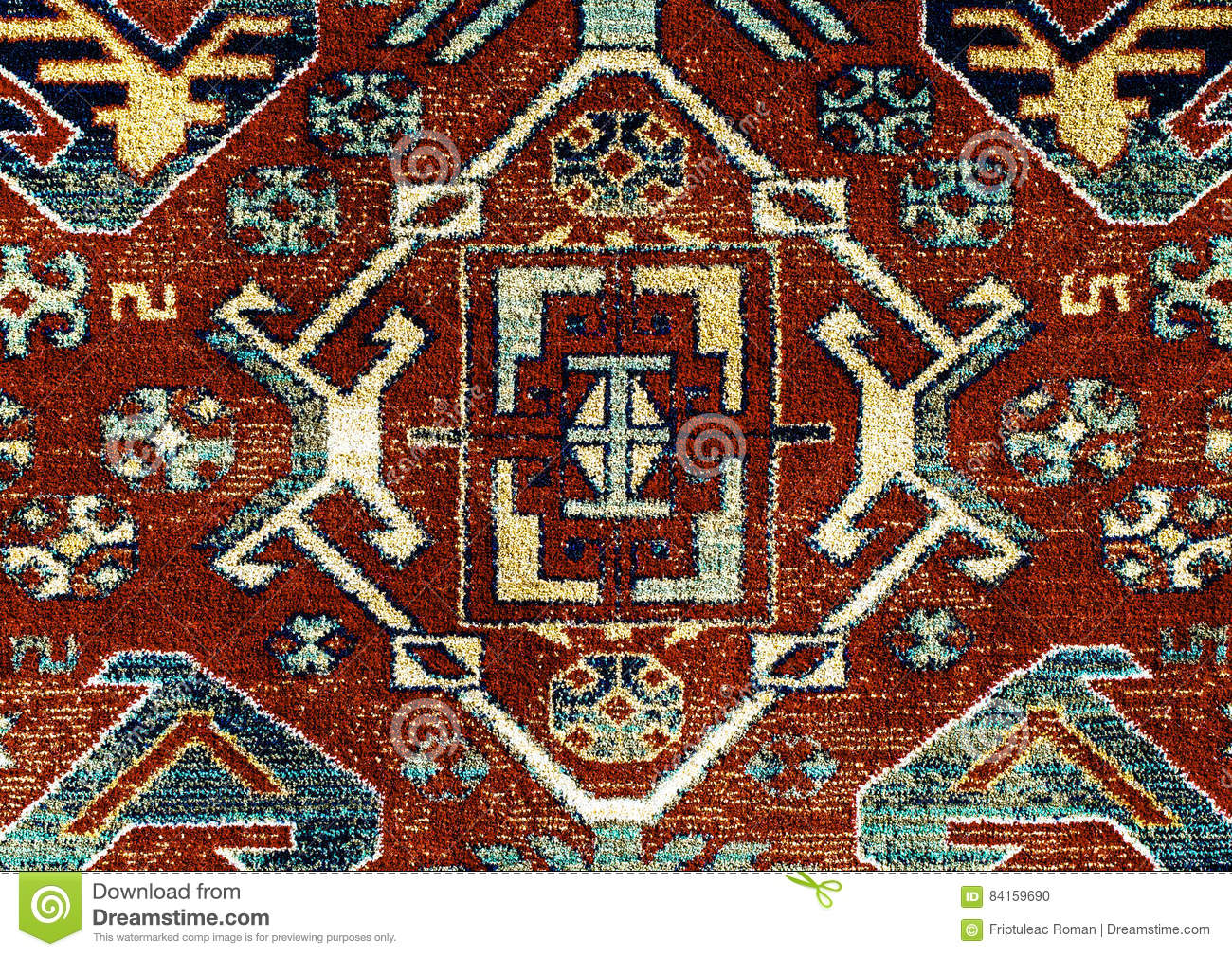 Romanian folk seamless pattern ornaments romanian for Traditional carpet designs