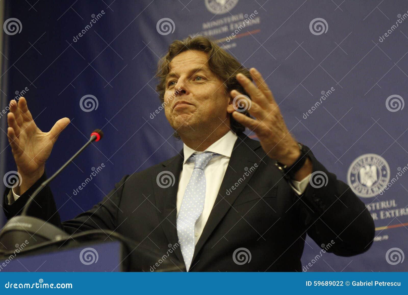 Romanian Foreign Affairs Minister Bogdan Aurescu consultations with visiting Dutch counterpart Bert Koenders
