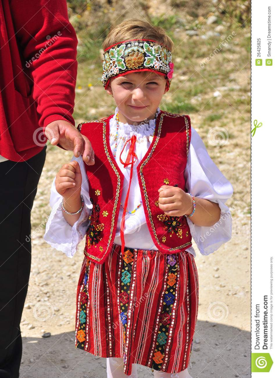 Romanian Little Girl With National Costume Editorial Image Image